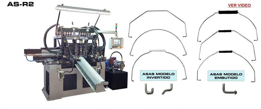ReivaxMaquinas: VIDEO AS-R2 Máquina dobladora para la fabricación de asas metálicas para envases plásticos.