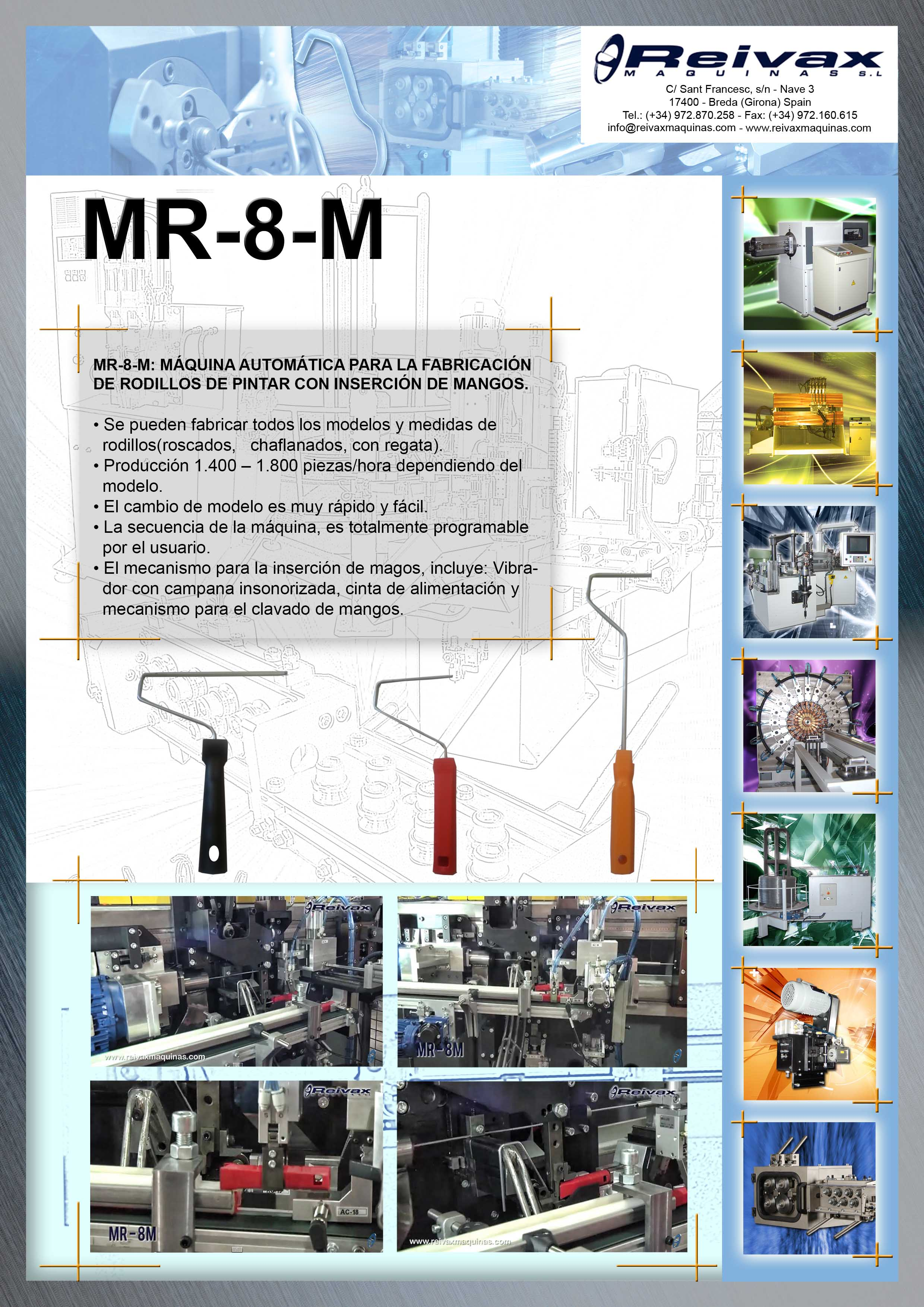 ReivaxMaquinas: Ficha Tecnica MR-8-M
