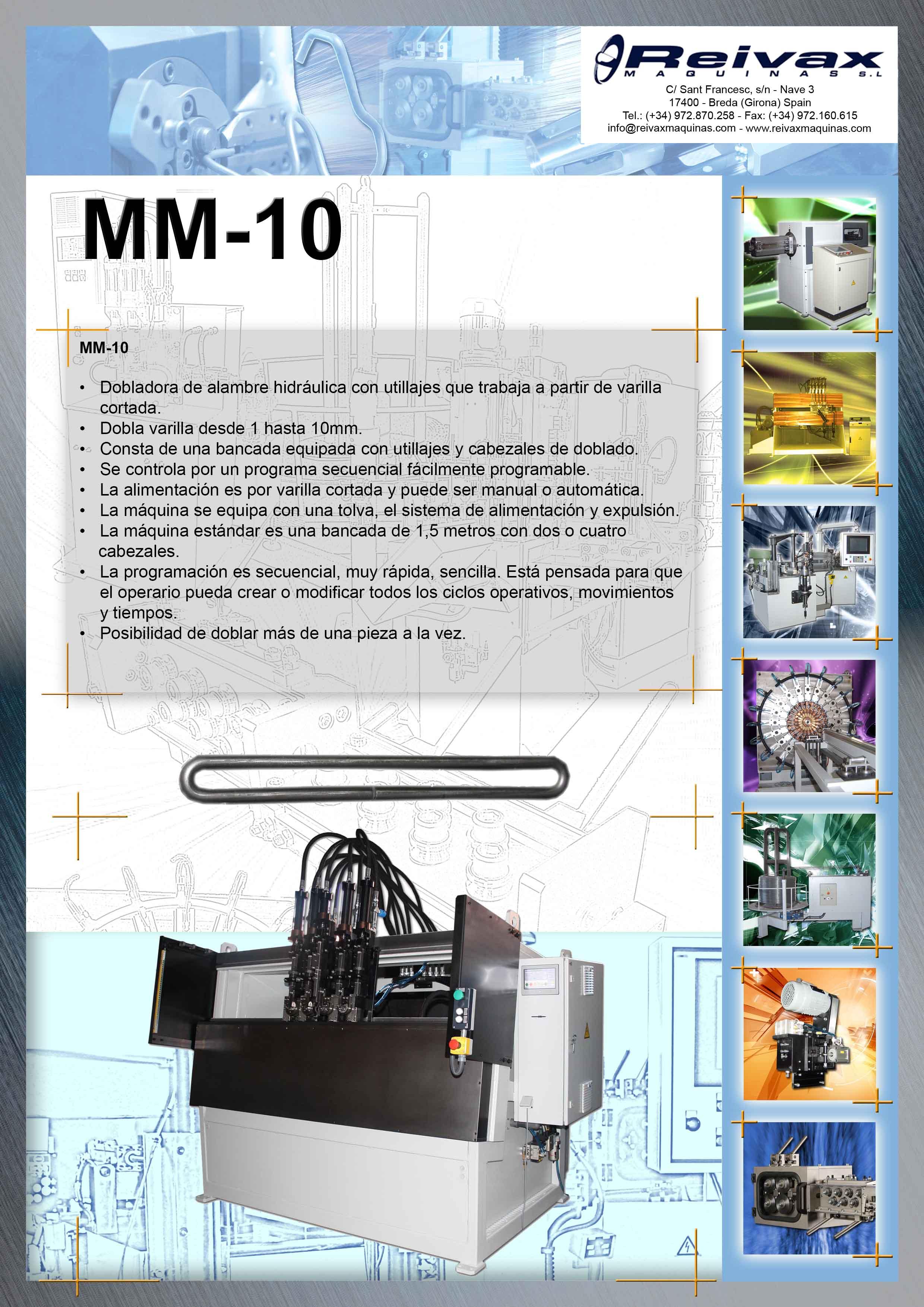 ReivaxMaquinas SL: MM-10 Maquina manual para la fabricación de marcos o piezas similares.