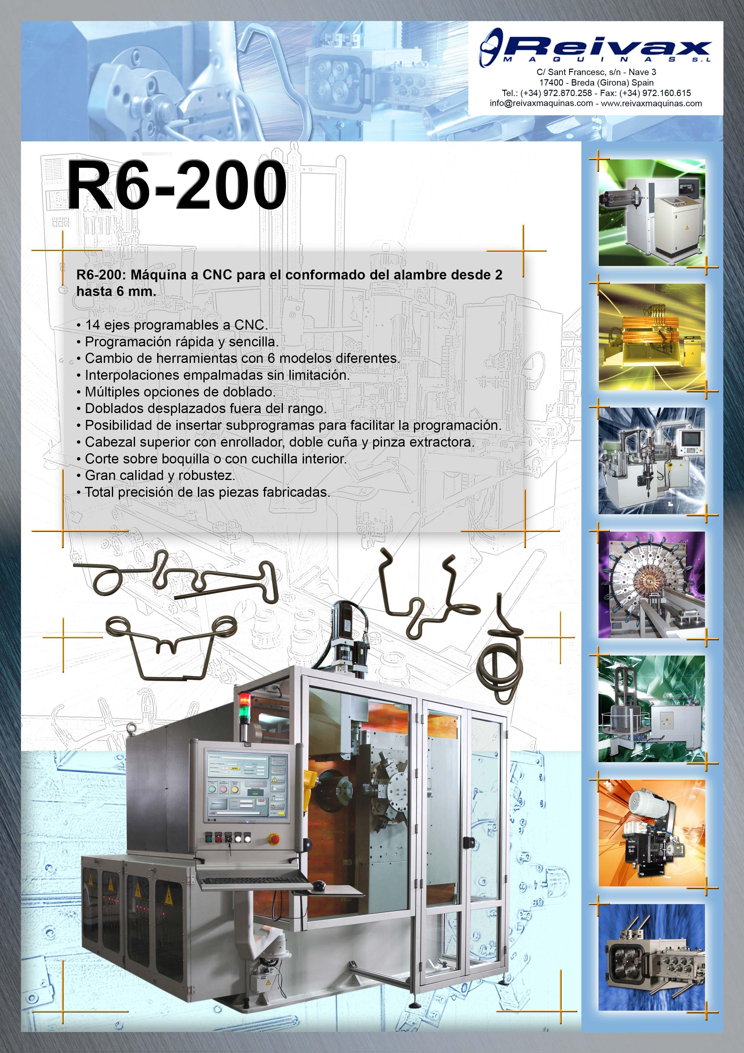 ReivaxMaquinas: Ficha Tecnica R6-200