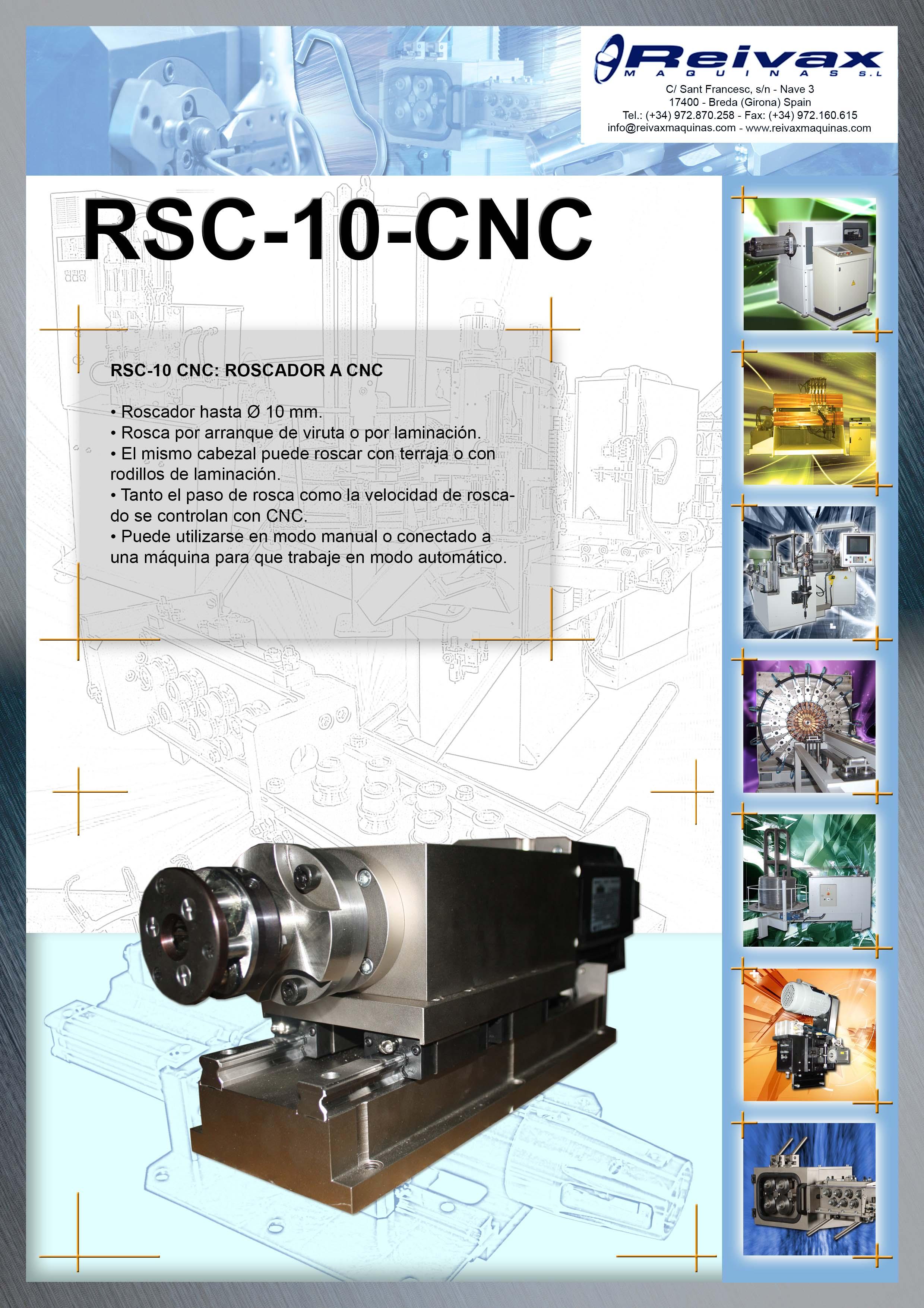 ReivaxMaquinas: Ficha Tecnica RSC-10-CNC