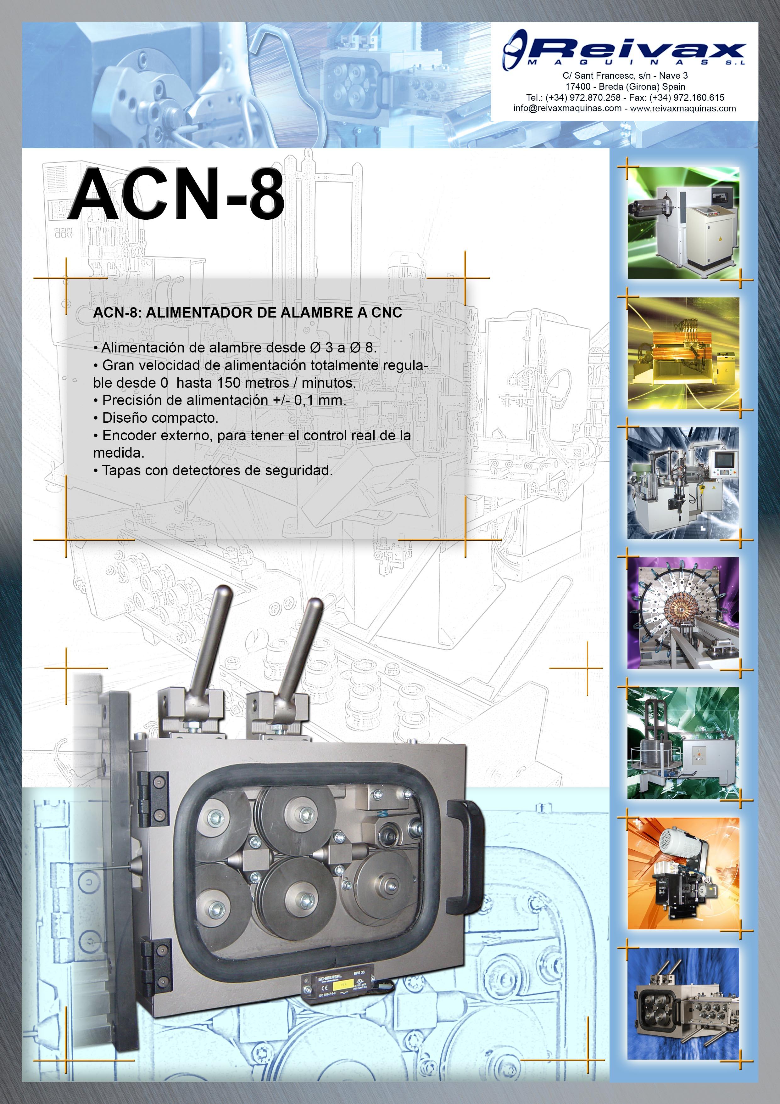 ReivaxMaquinas: Ficha Tecnica ACN-8