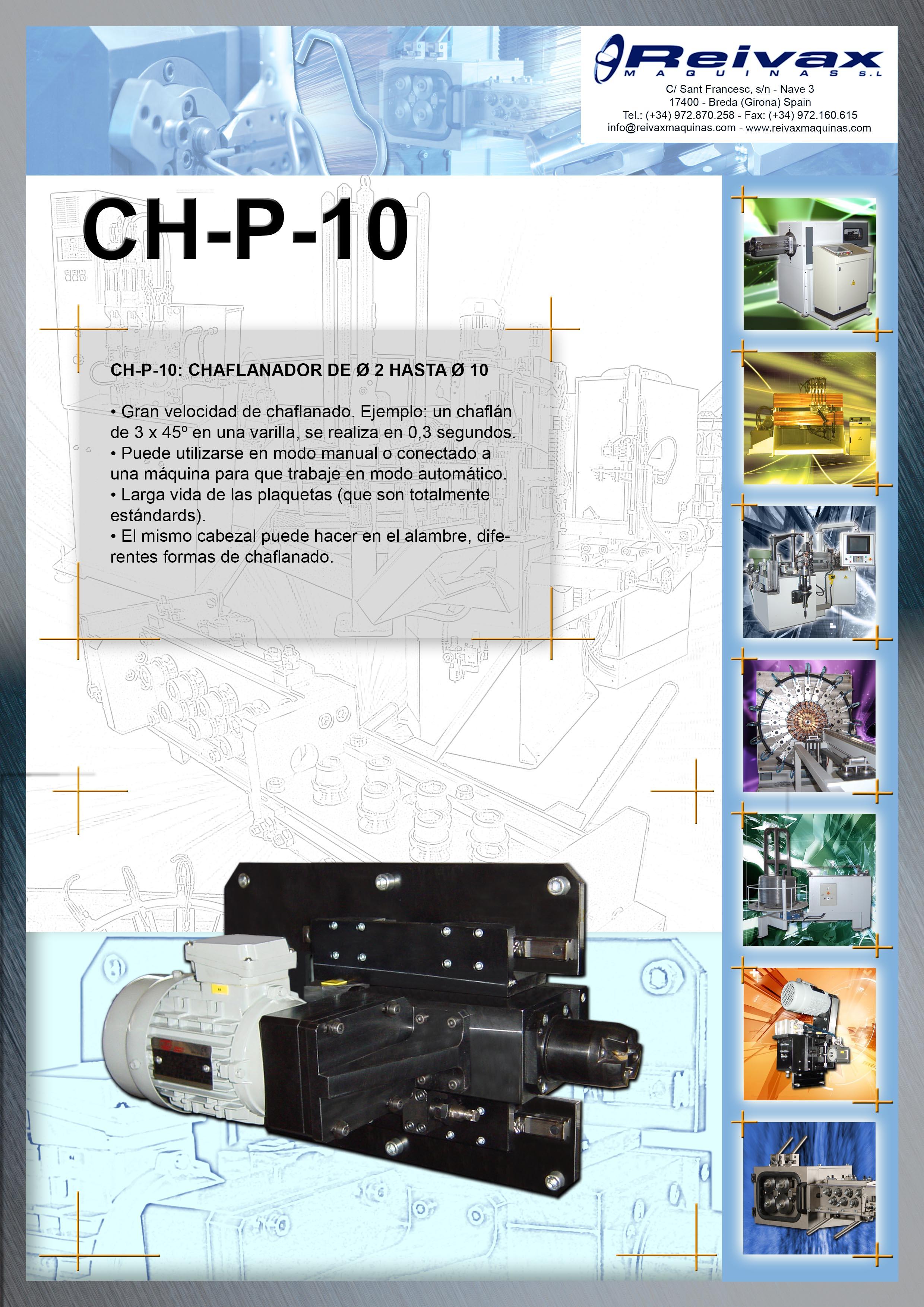 ReivaxMaquinas: Ficha Tecnica CH-P-10