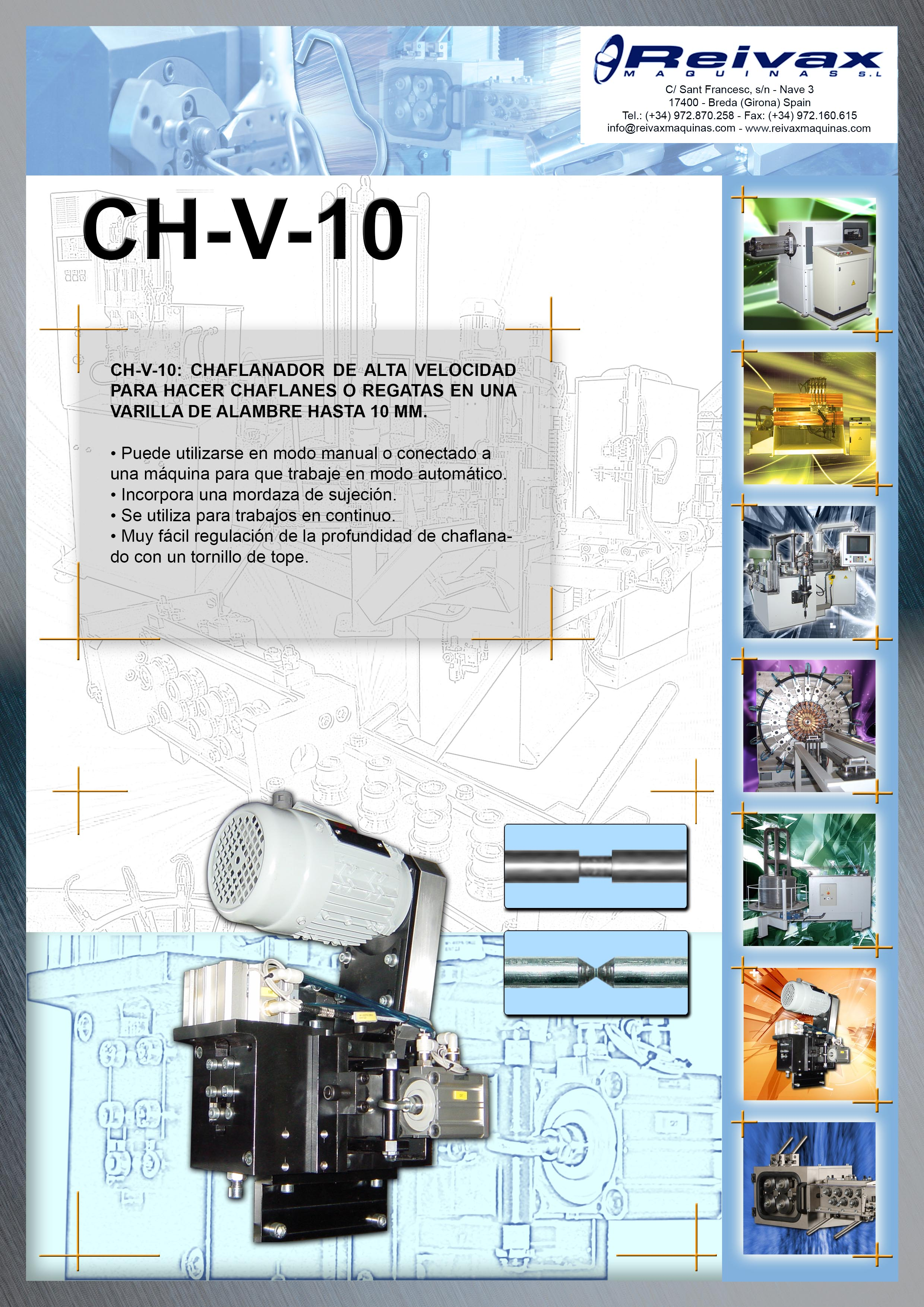 ReivaxMaquinas: Ficha Tecnica CH-V-10