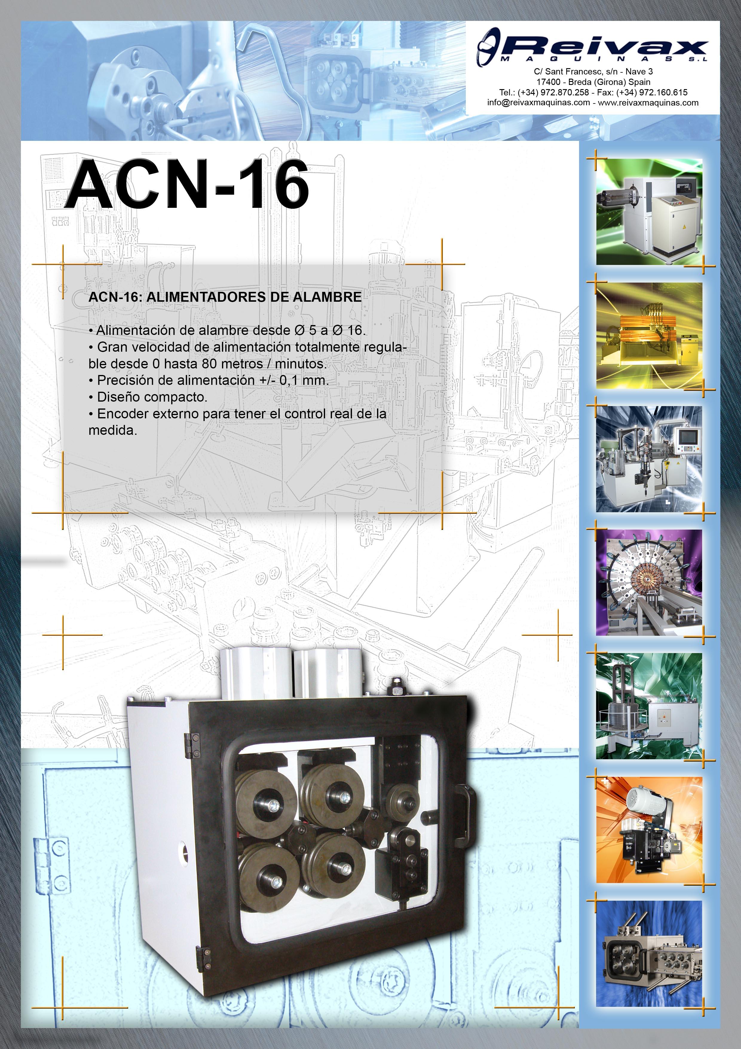 ReivaxMaquinas: Ficha Tecnica ACN-16