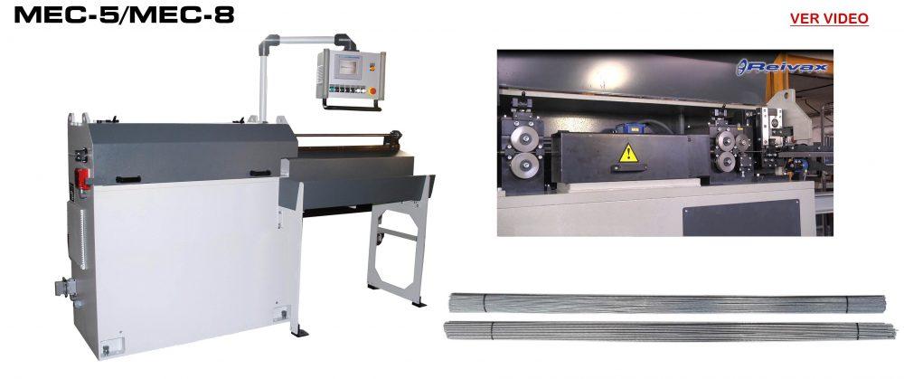 Maquinas Enderezar y Cortar: MEC-5 / MEC-8 Video