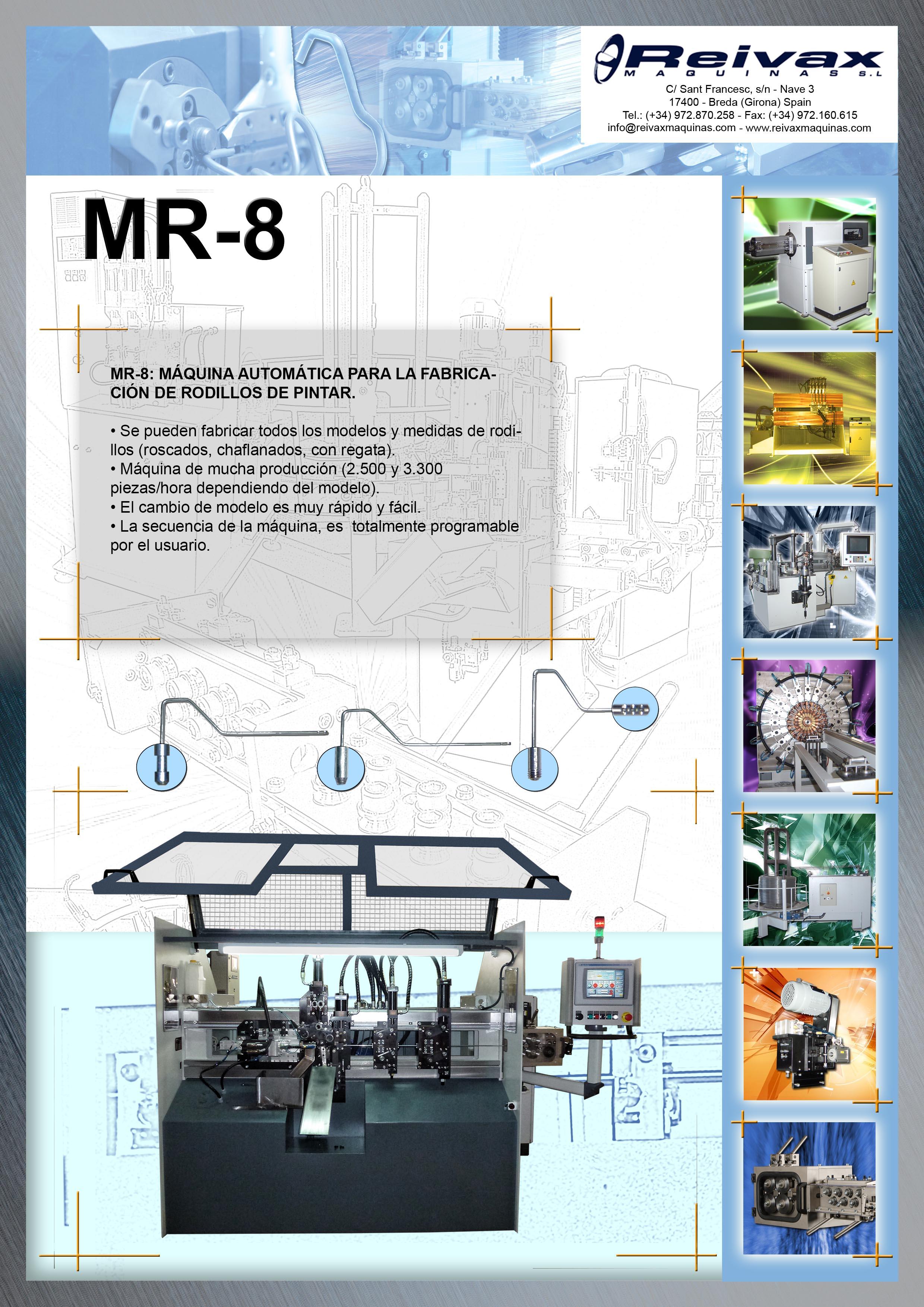 ReivaxMaquinas: Ficha Tecnica MR-8
