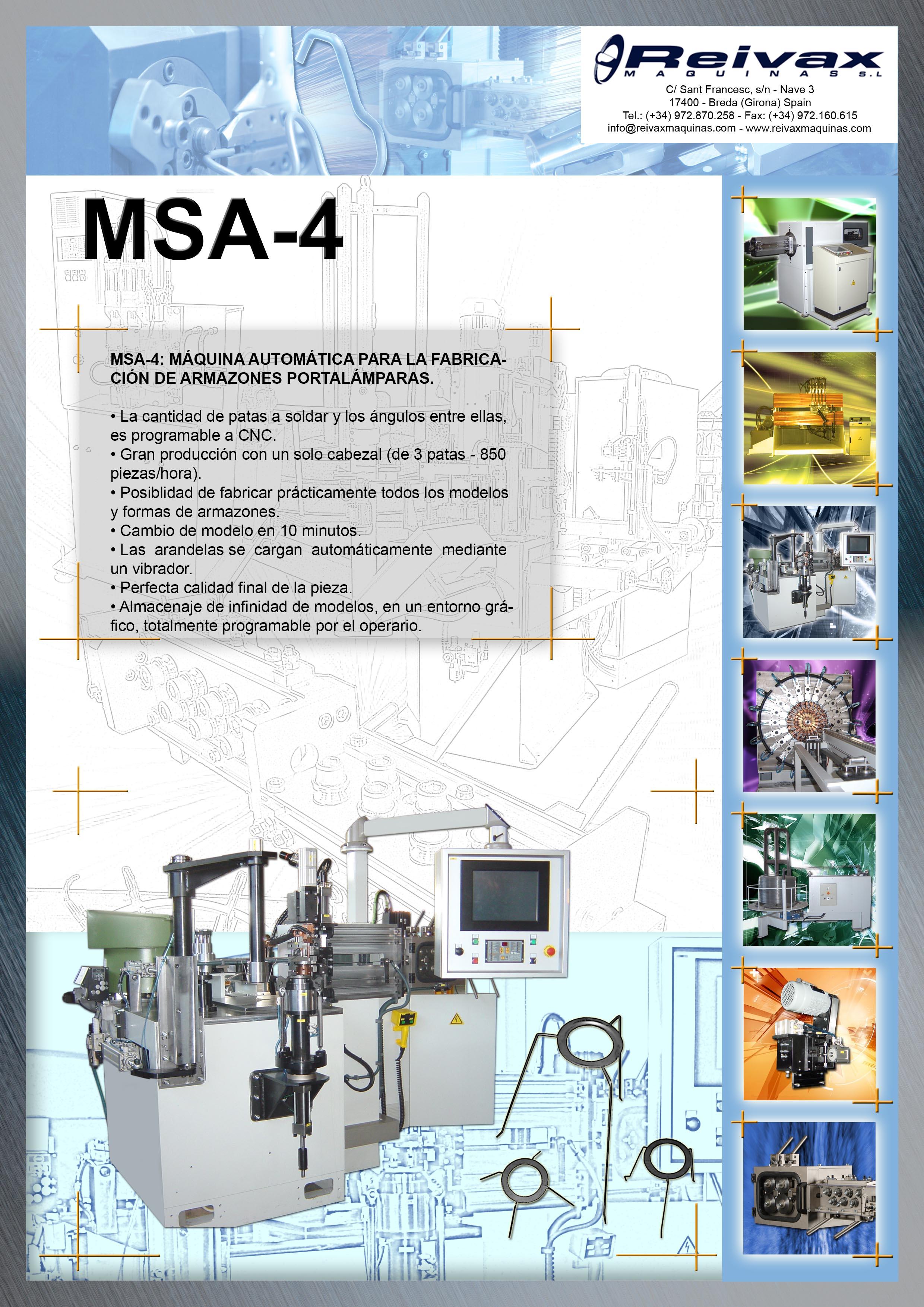 ReivaxMaquinas: Ficha Tecnica MSA-4