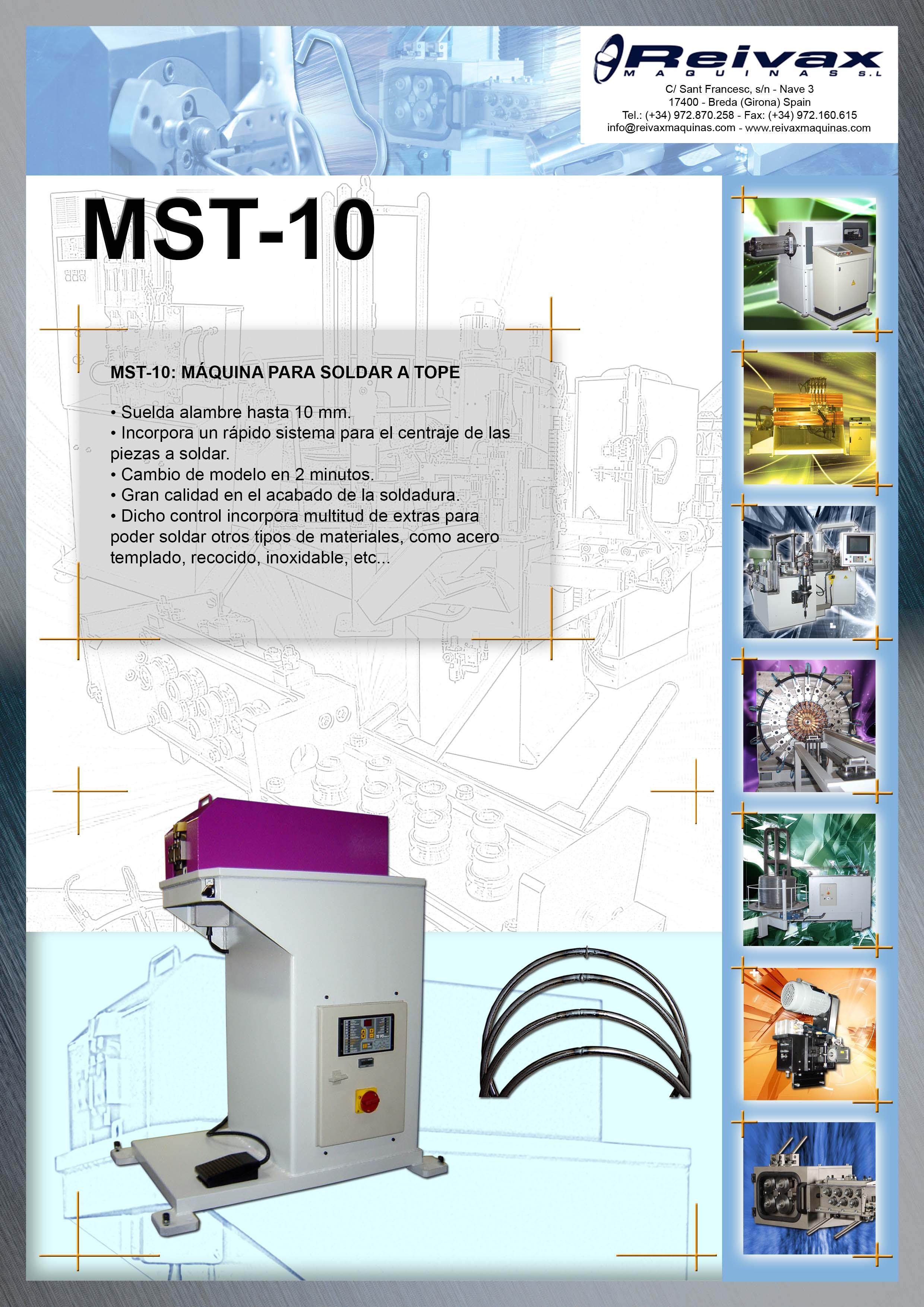 ReivaxMaquinas: Ficha Tecnica MST-10