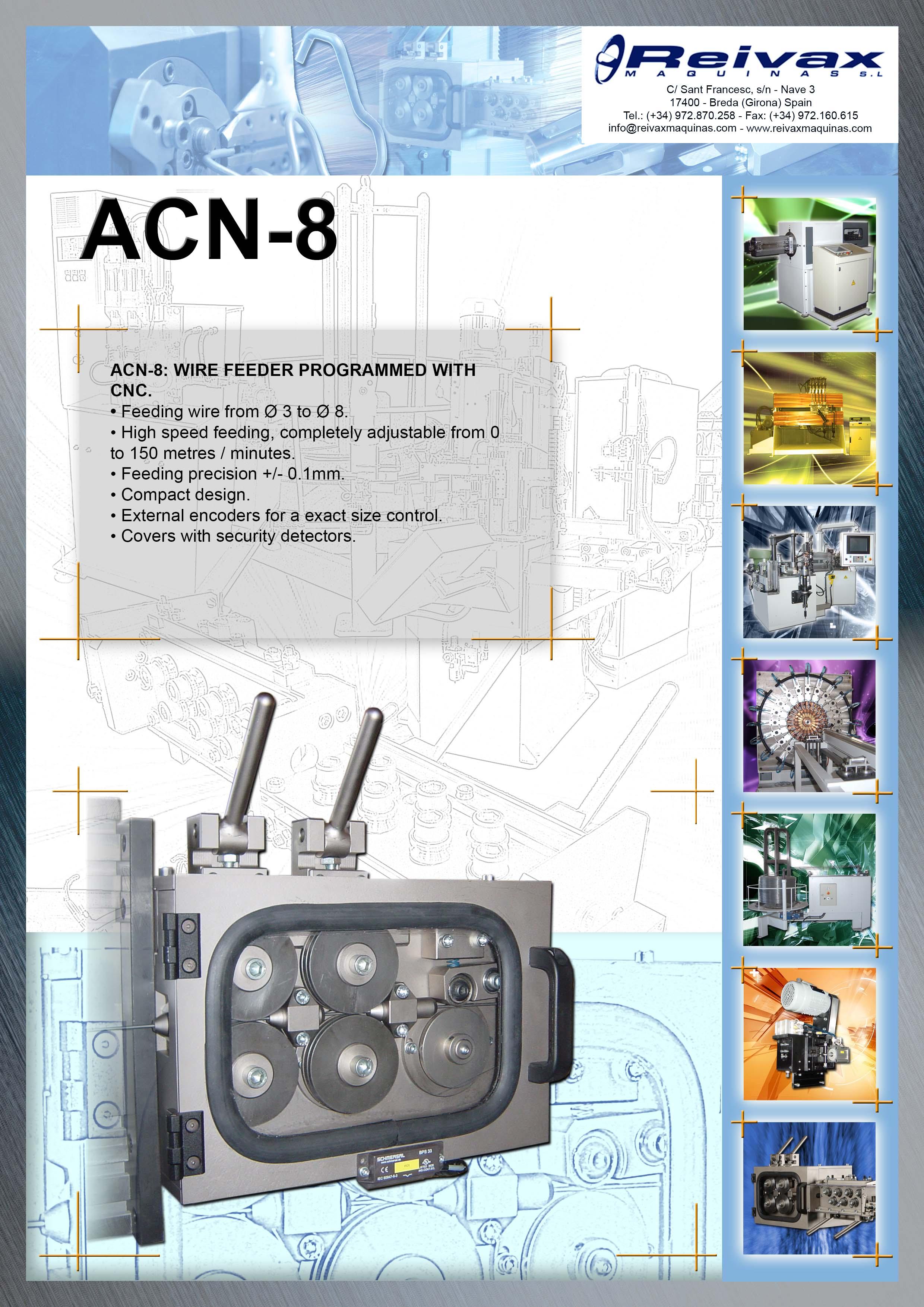 ReivaxMaquinas: Technical Details ACN-8