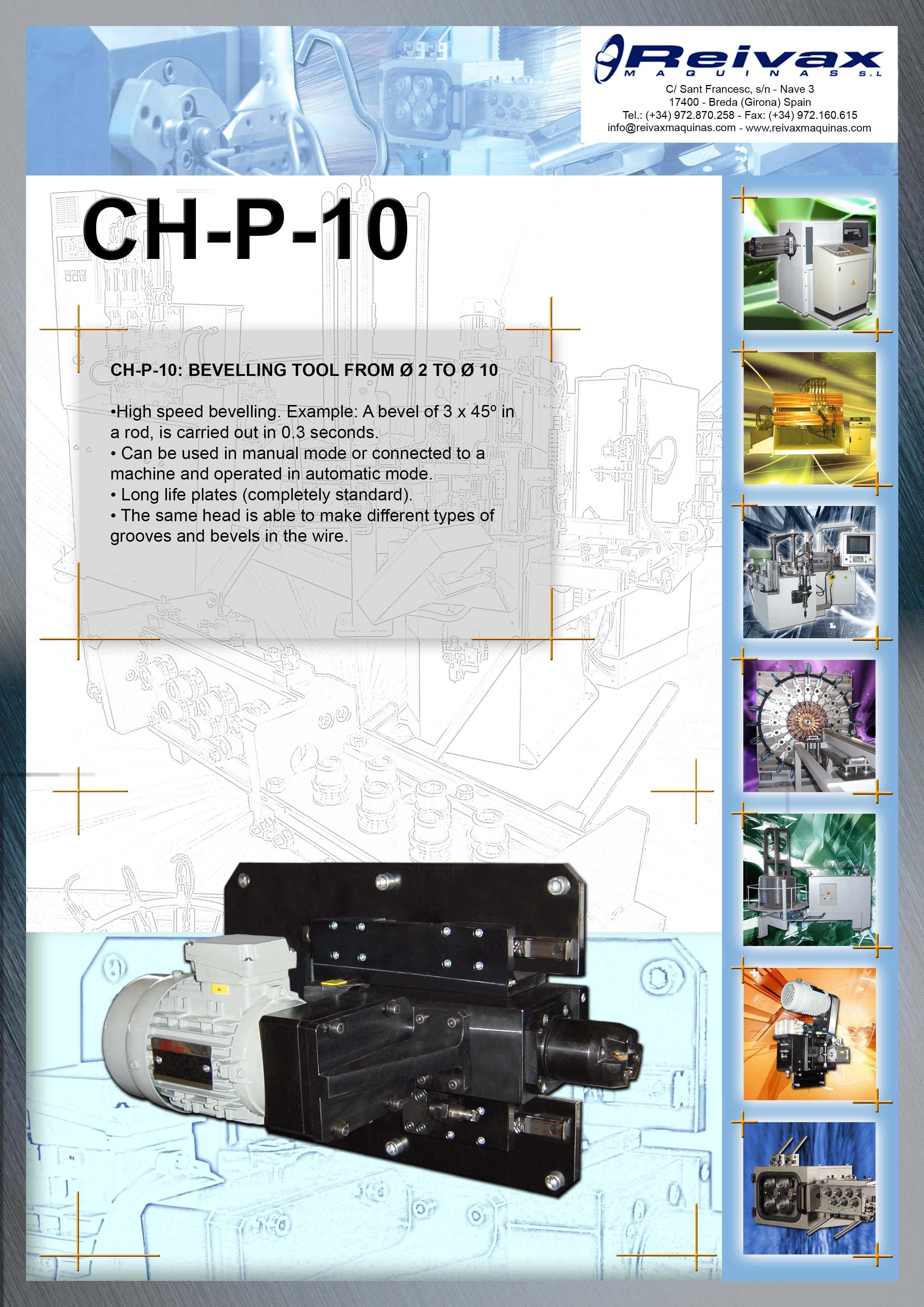ReivaxMaquinas: Technical Details CH-P-10