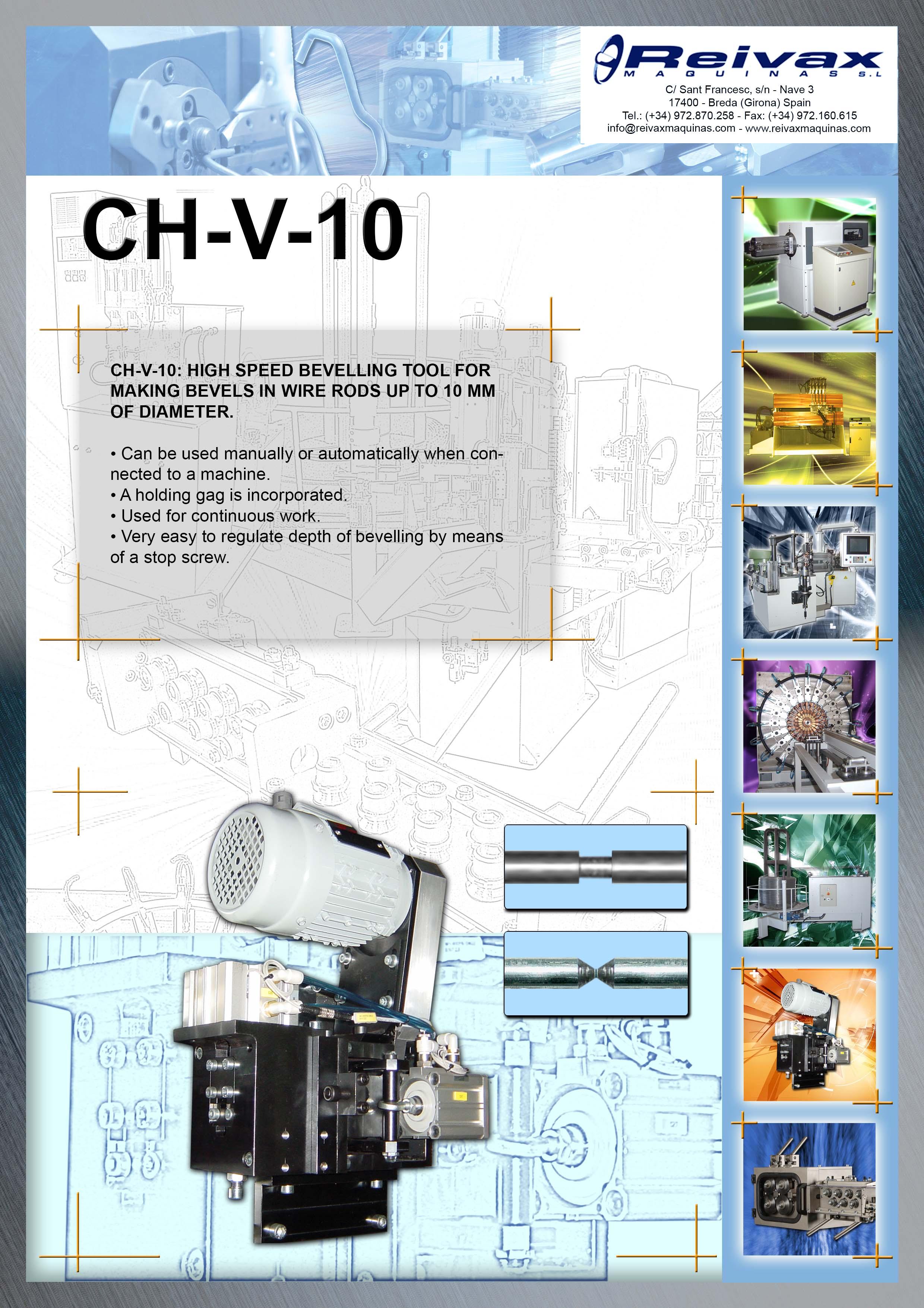 ReivaxMaquinas: Technical Details CH-V-10