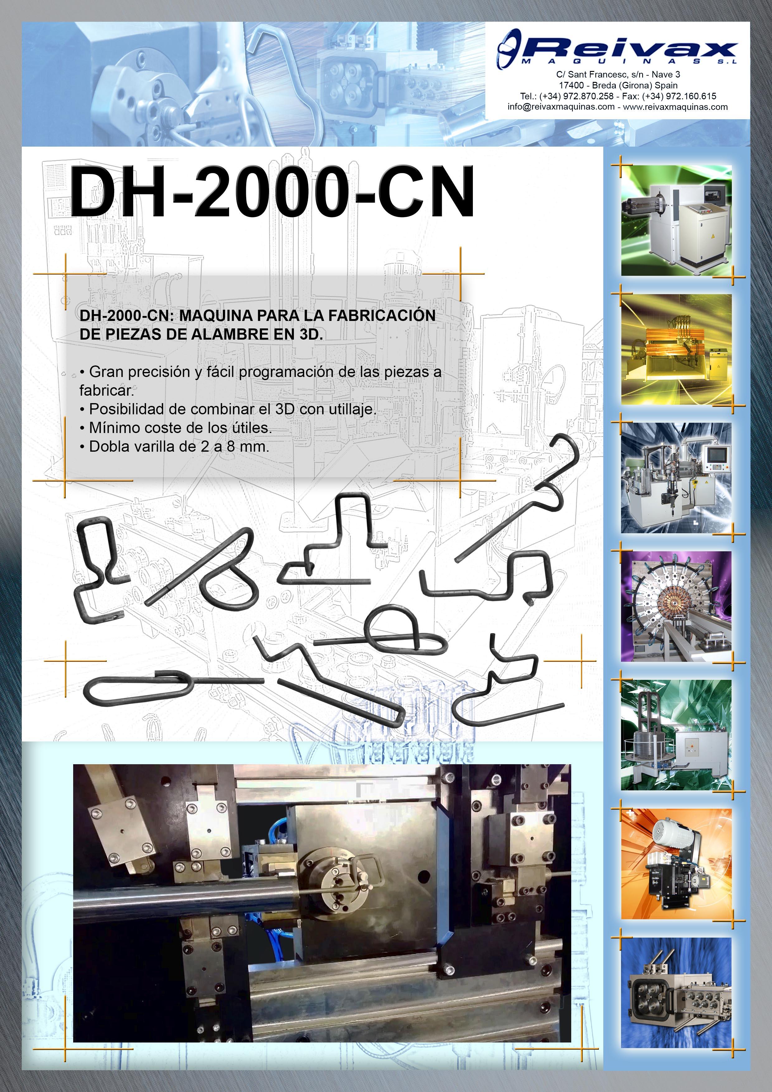 ReivaxMaquinas: Ficha Tecnica DH-2000-CN