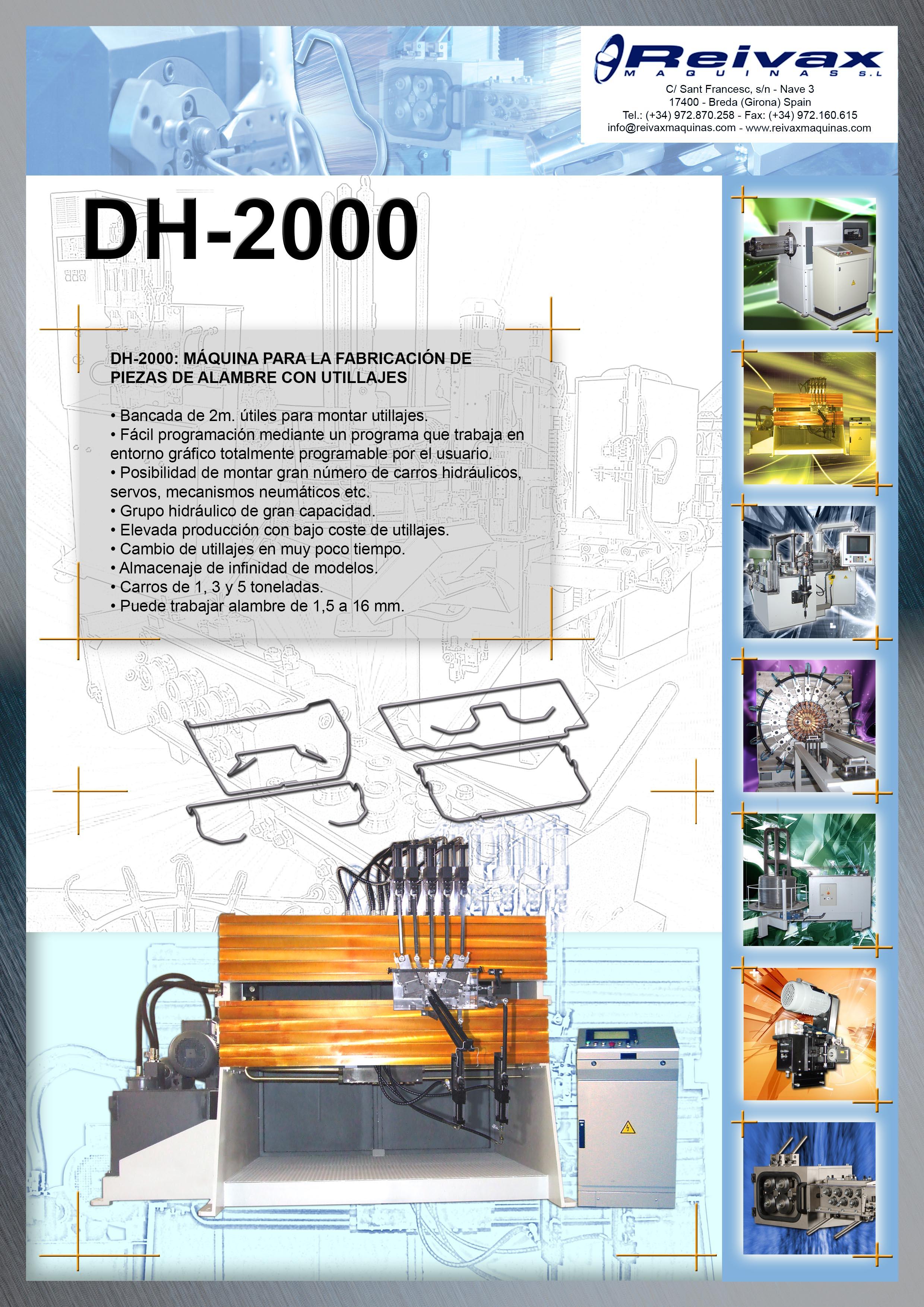 ReivaxMaquinas: Ficha Tecnica DH-2000