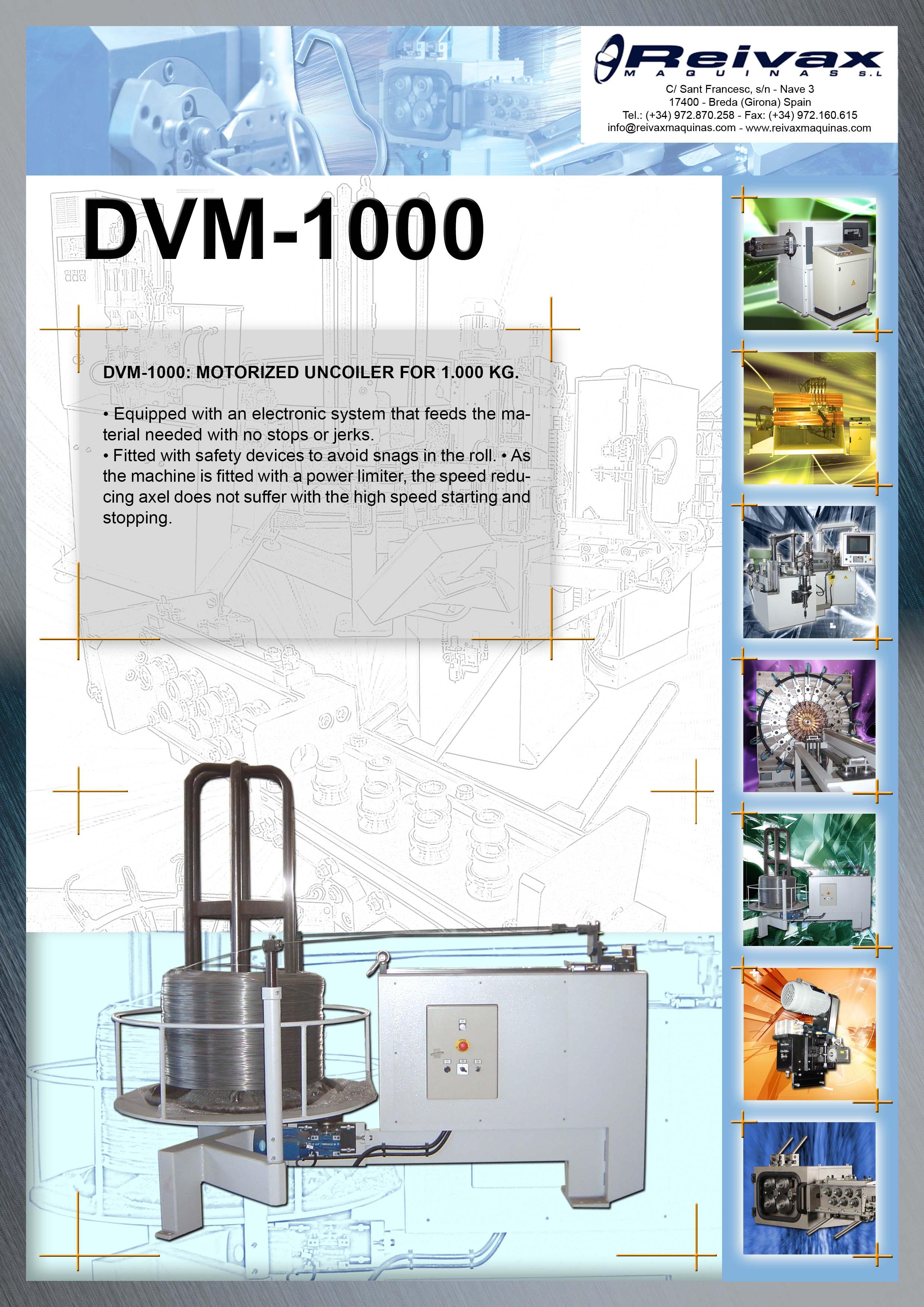 ReivaxMaquinas: Technical Details DVM-1000