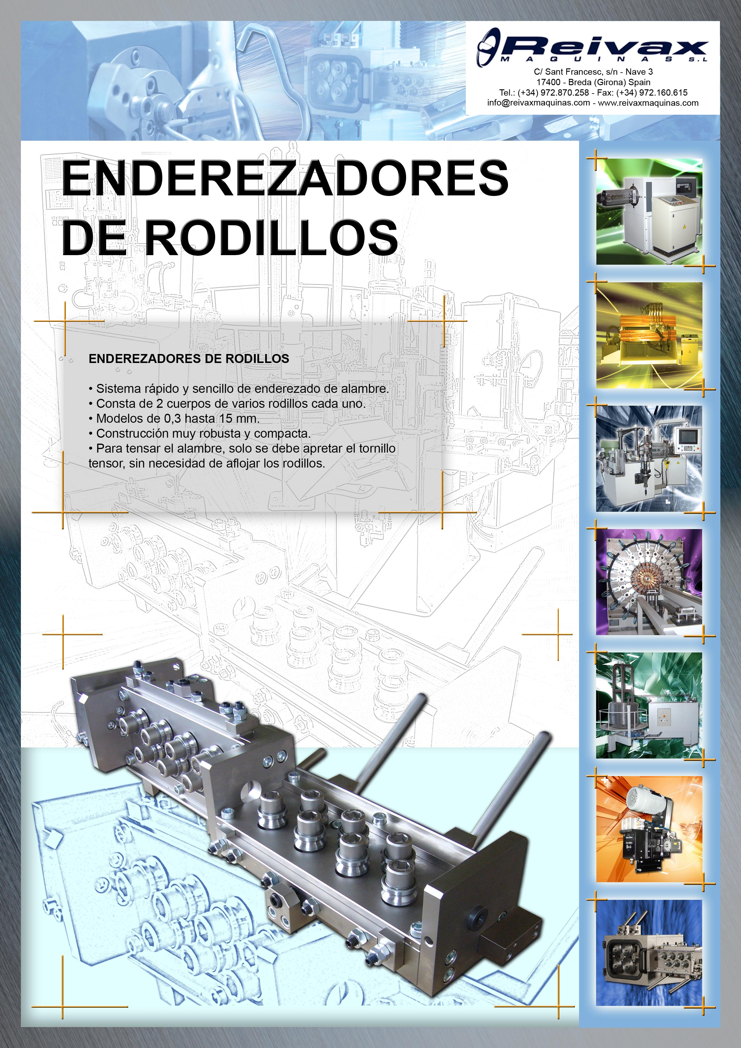 ReivaxMaquinas: Ficha ENDEREZADORES DE RODILLOS