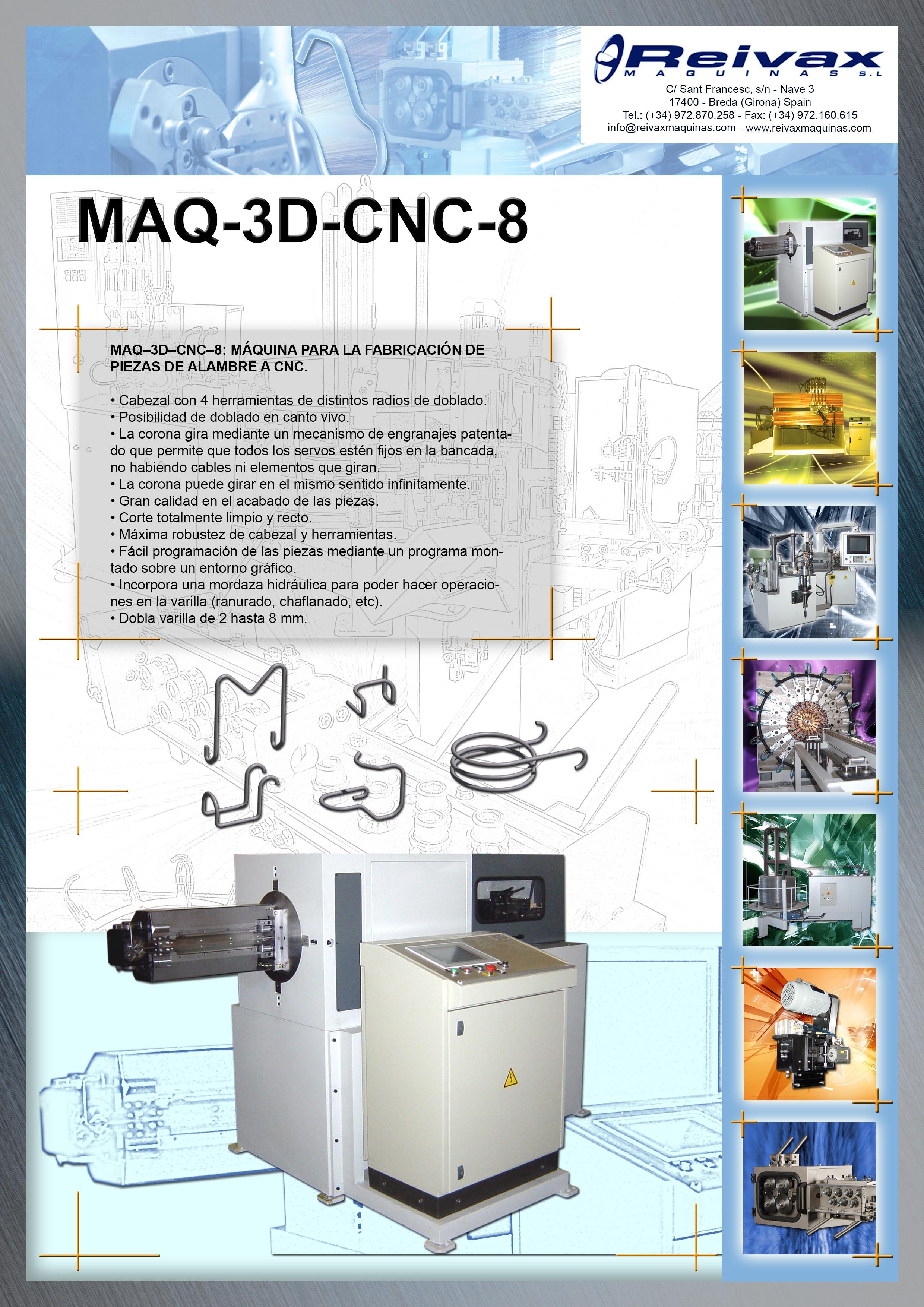 ReivaxMaquinas: Ficha Tecnica MAQ-3D-CNC-8