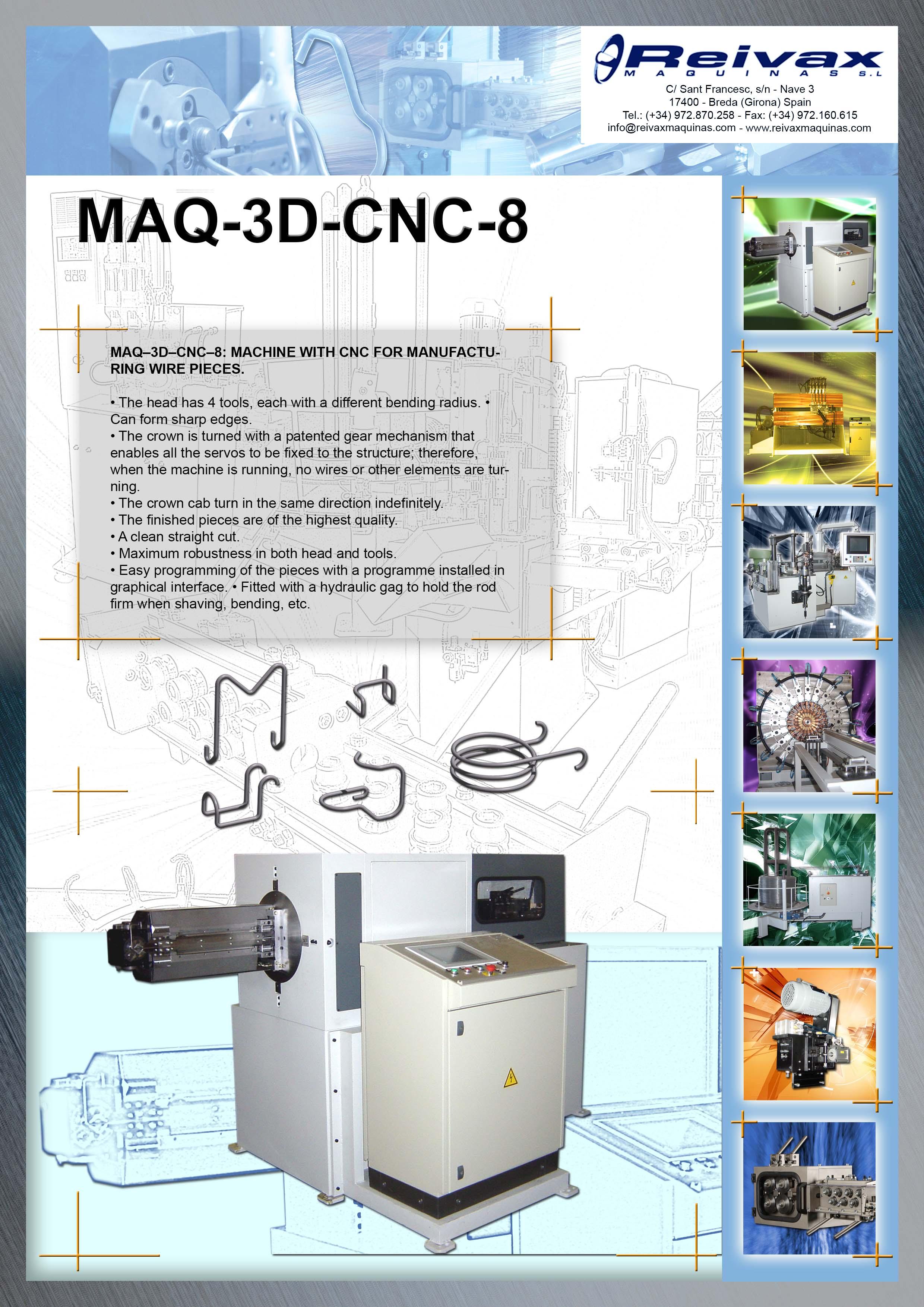 ReivaxMaquinas: Technical Details MAQ-3D-CNC-8