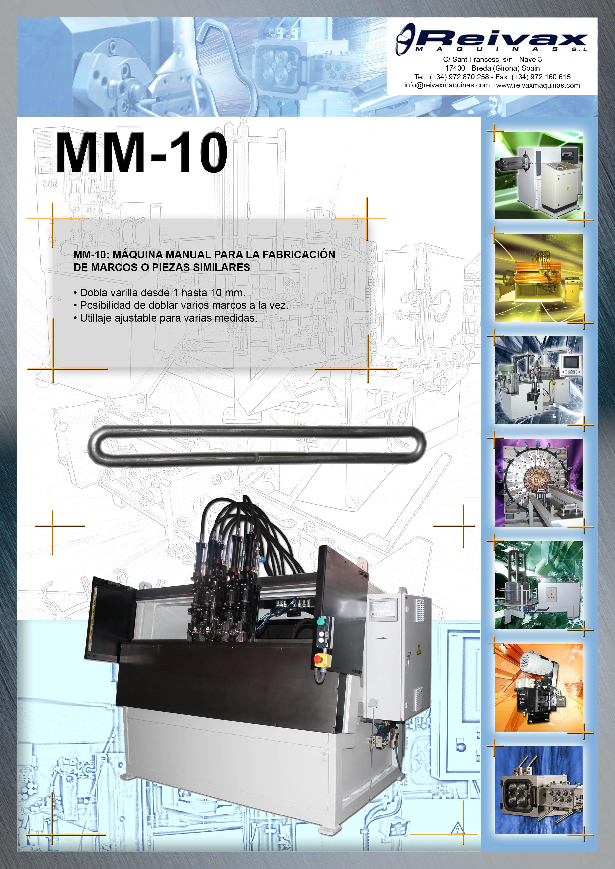 ReiVaxMaquinas: Ficha Tecnica MM-10