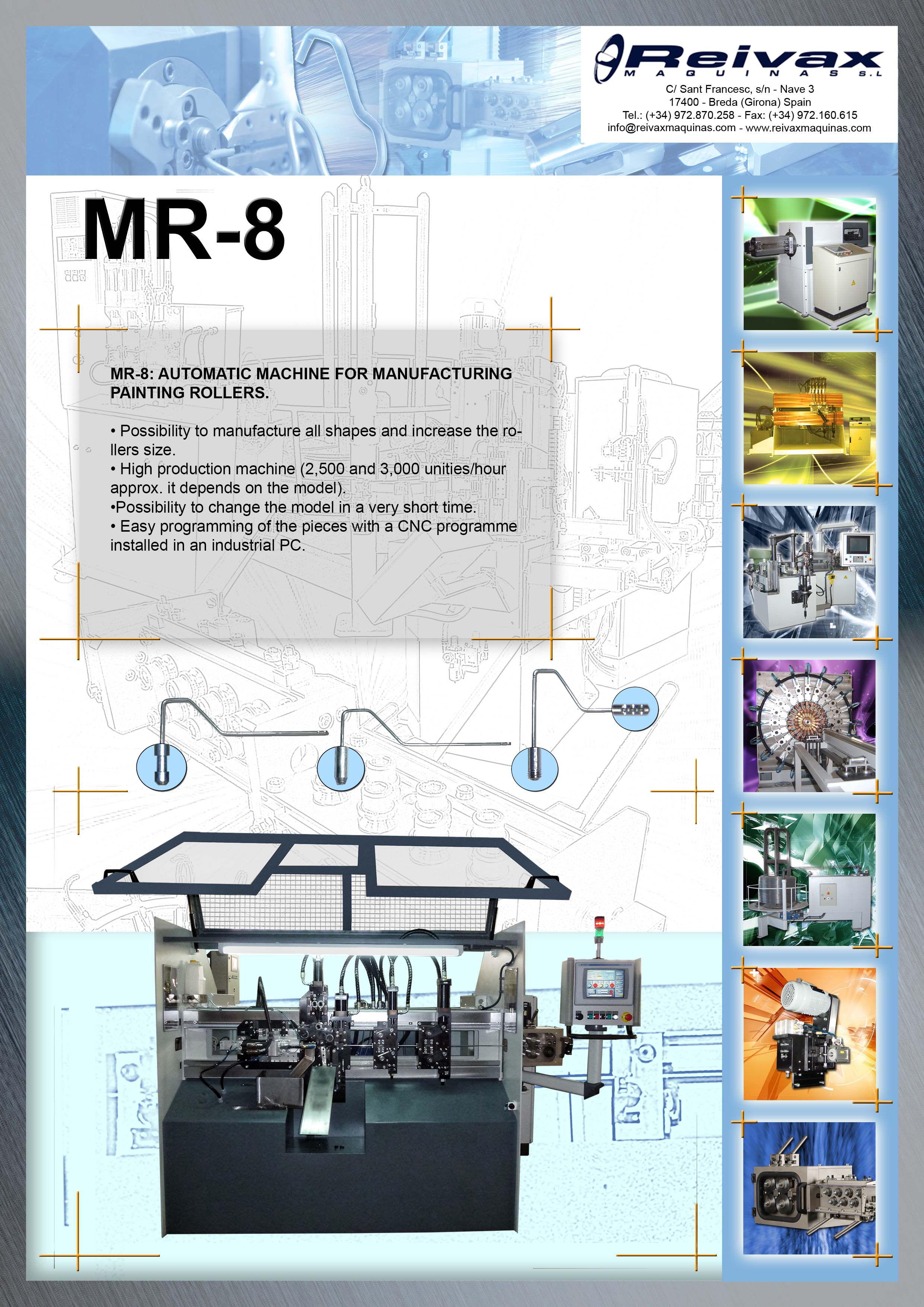 ReivaxMaquinas: Technical Details MR-8