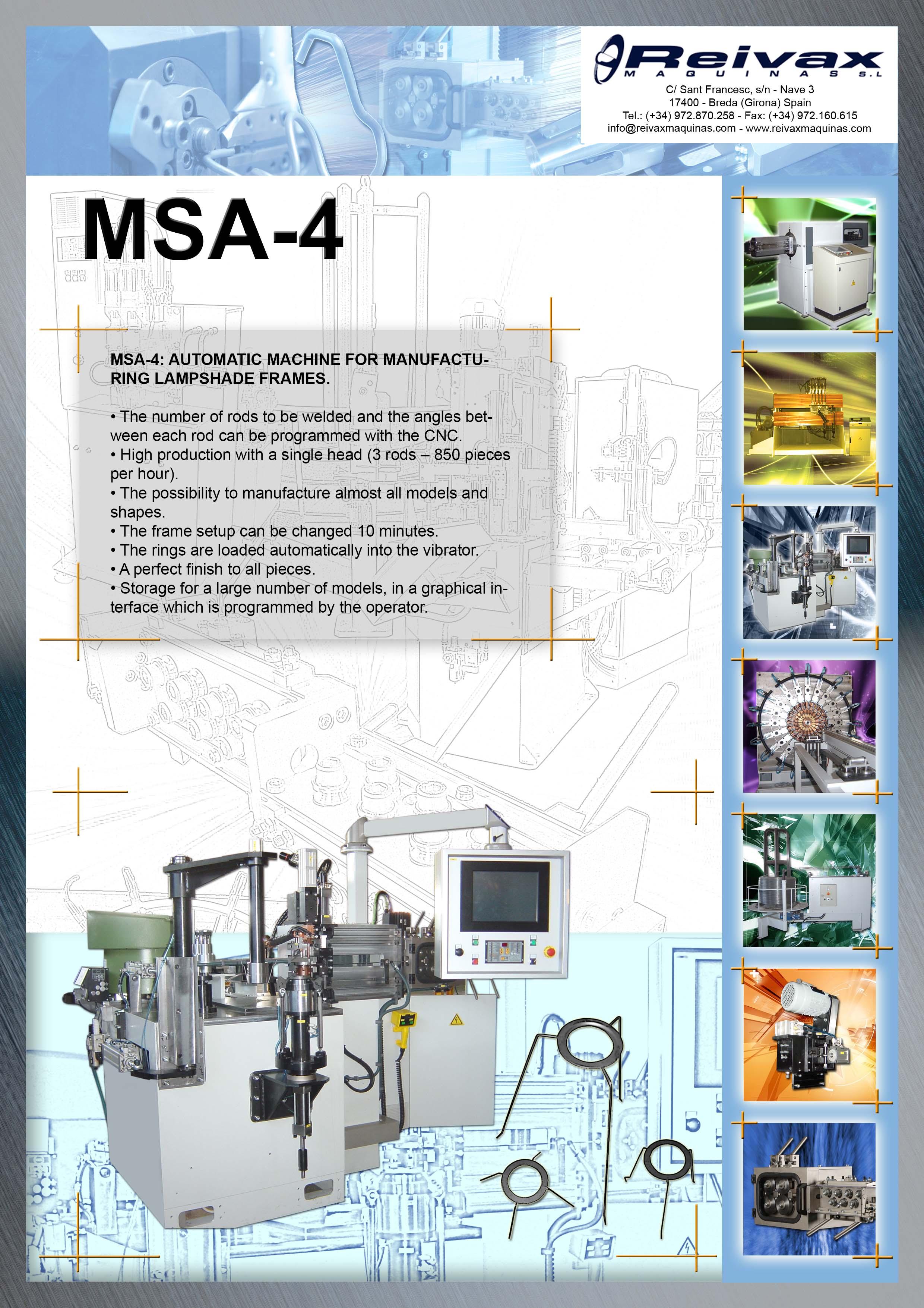 ReivaxMaquinas: Technical Details MSA-4
