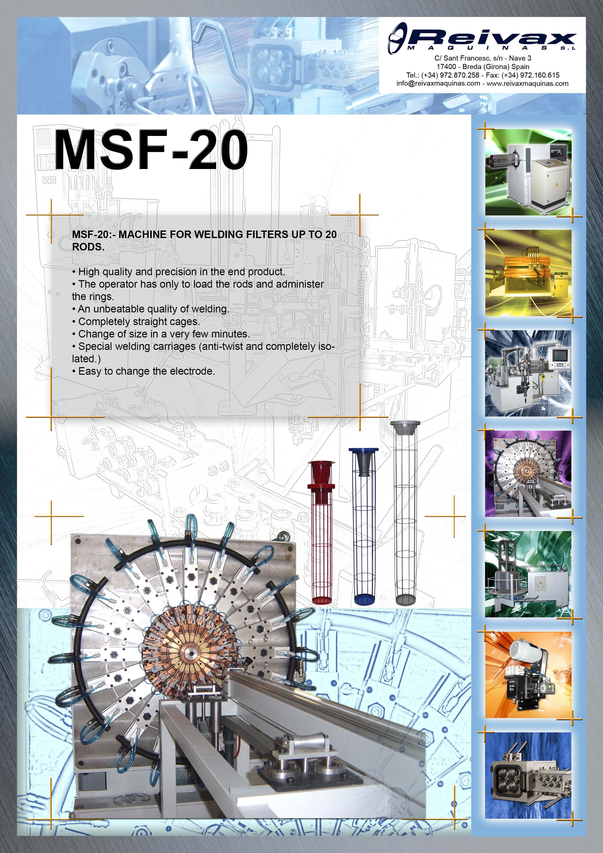 ReivaxMaquinas: Technical Details MSF-20