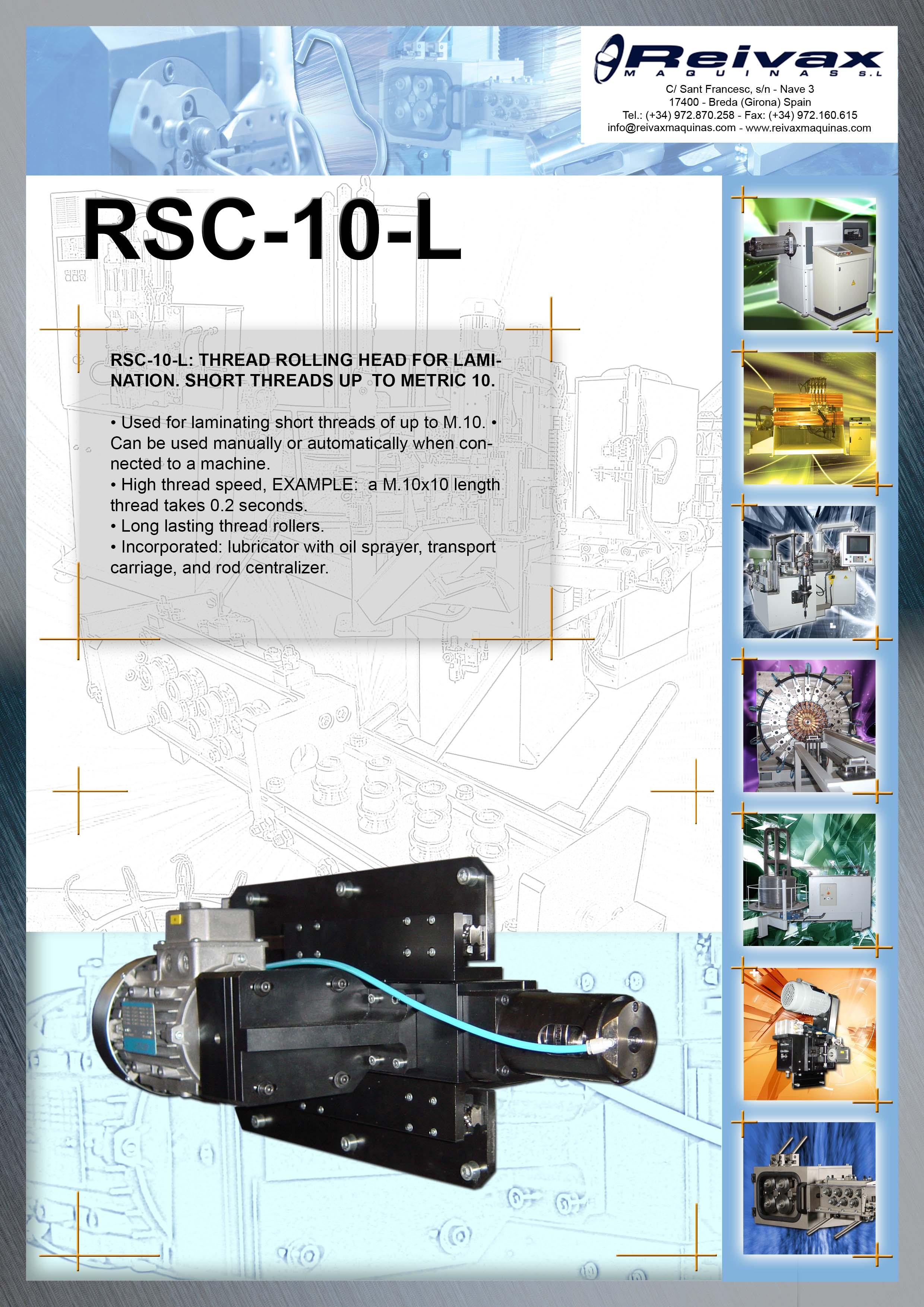 ReivaxMaquinas: Technical Details RSC-10-L