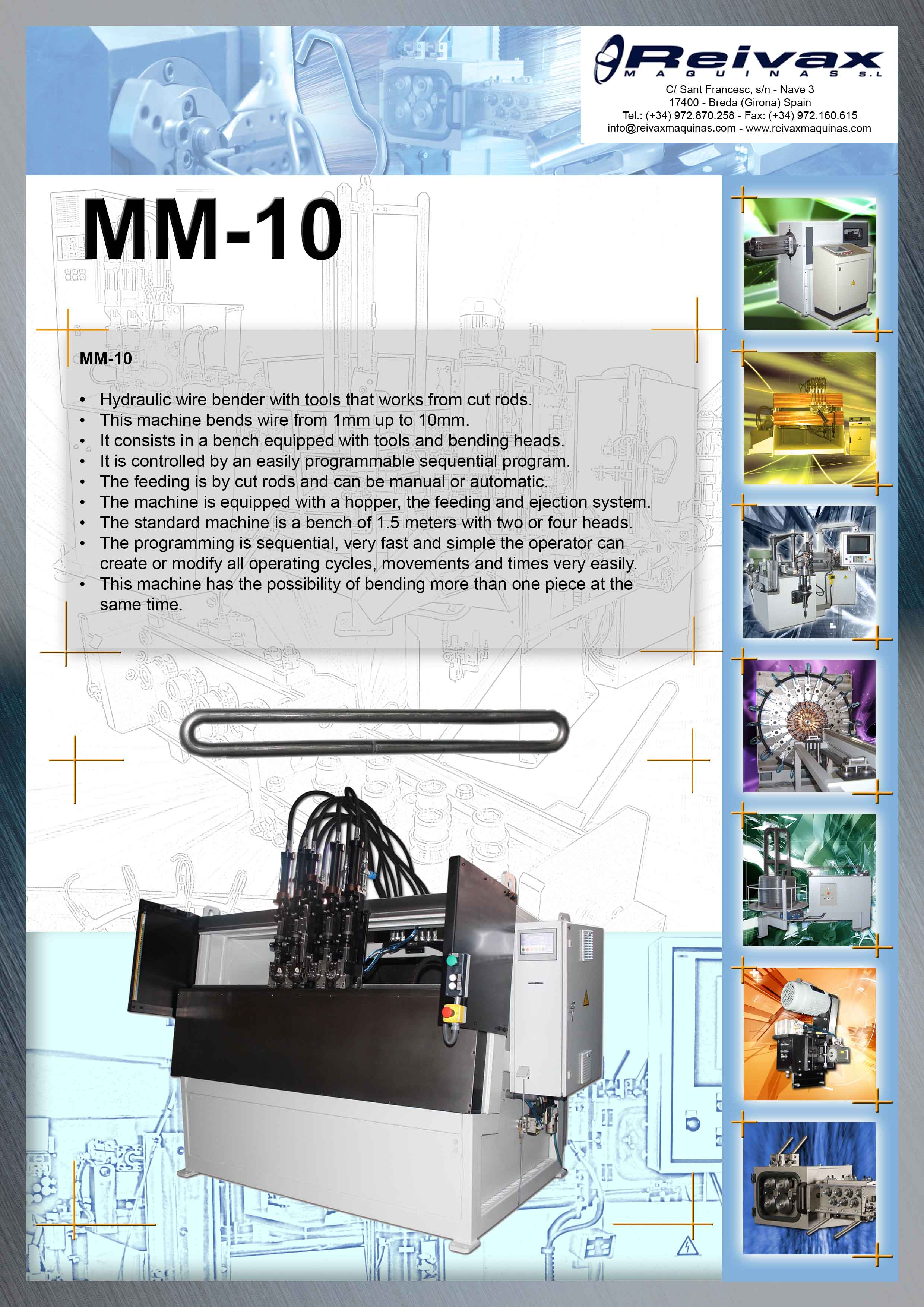 ReivaxMaquinas: MM-10 Manual machine for manufacturing frames or similar pieces.