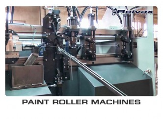 PAINT ROLLER MACHINES - MACHINES FOR MANUFACTURING WIRE PAINT ROLLERS: Reivax Maquinas, SL