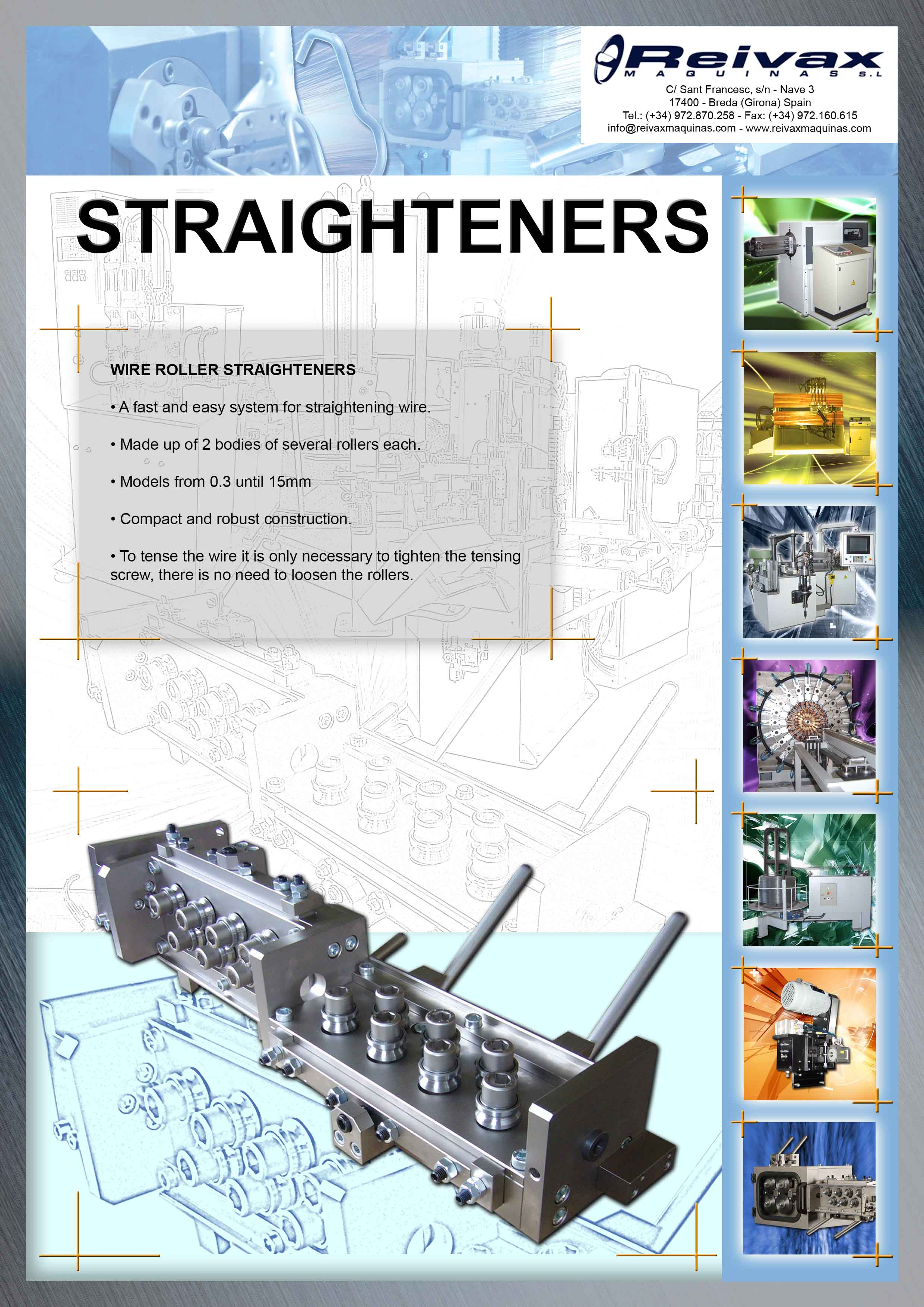ReivaxMaquinas: Technical Details WIRE STRAIGHTENERS