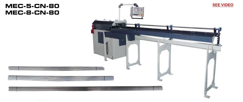 Straightening and Cutting Machines: MEC-5-CN-80 / MEC-8-CN-80