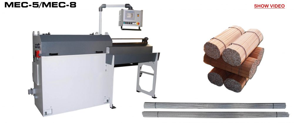 Straightening and Cutting Machine: MEC-5 / MEC-8 Video