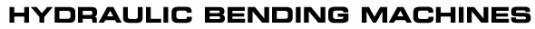 HYDRAULIC BENDING MACHINES: Reivax Maquinas SL