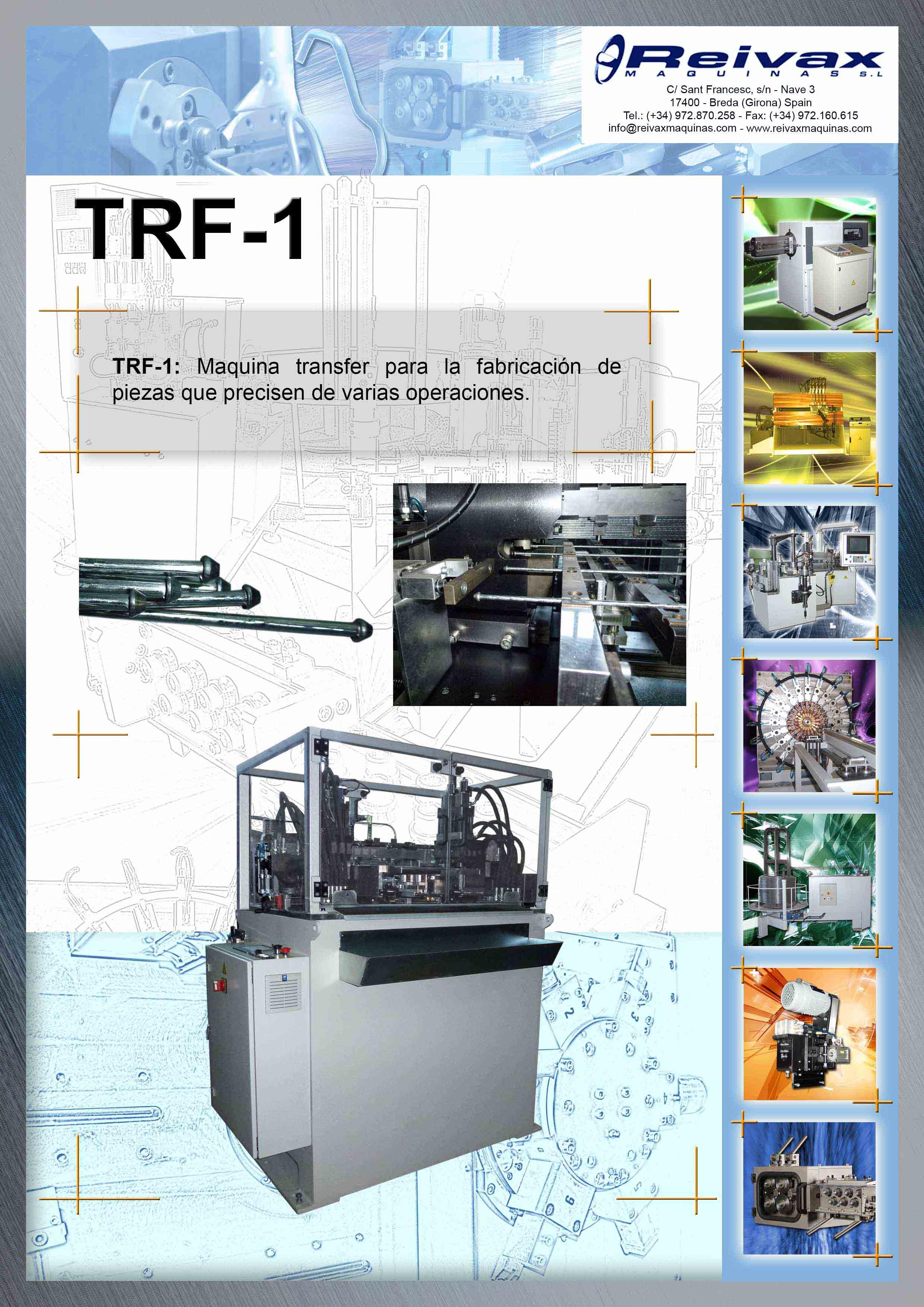 ReivaxMaquinas: Ficha Tecnica TRF-1