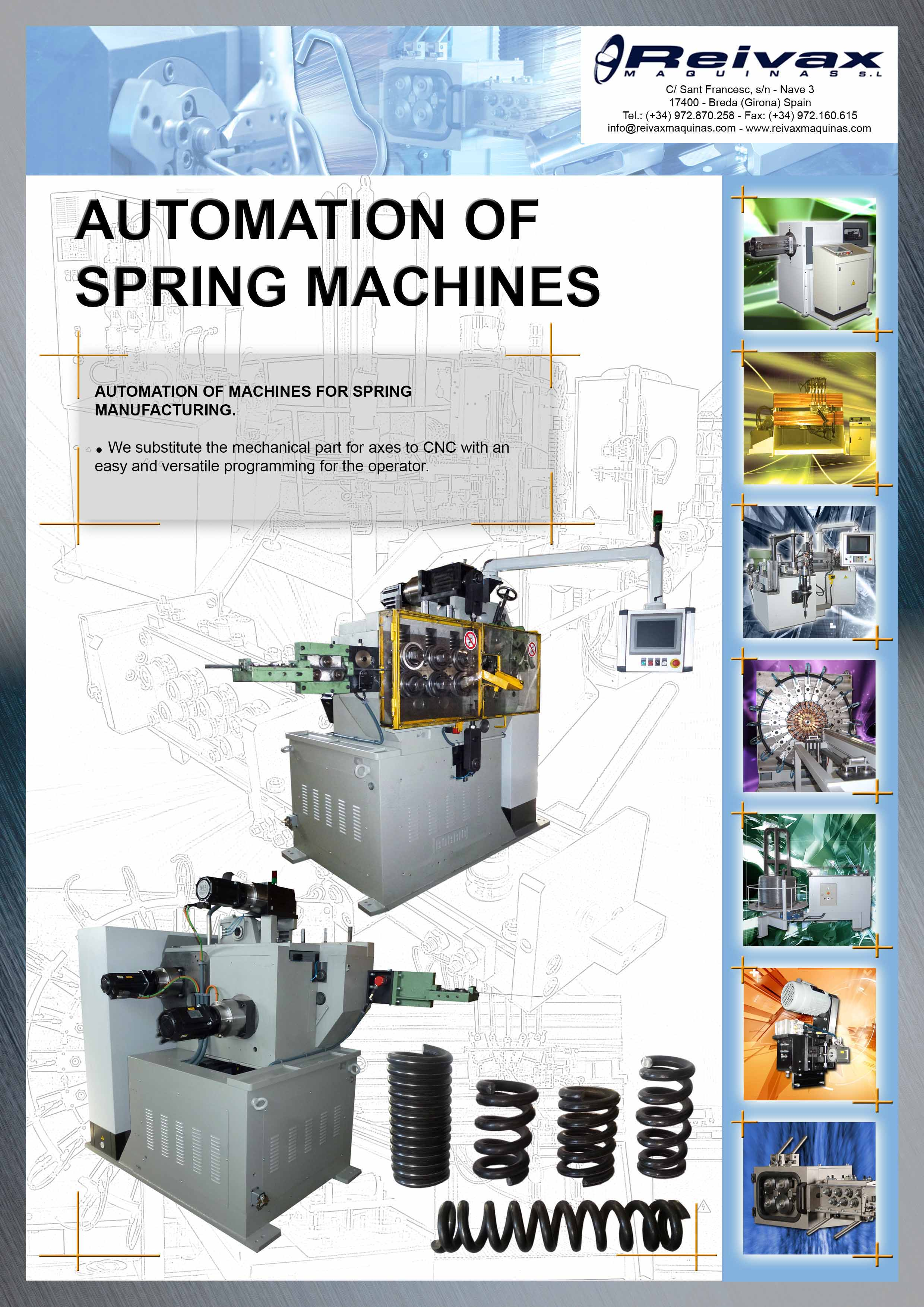 ReivaxMaquinas: Technical Details Automation Spring Machines