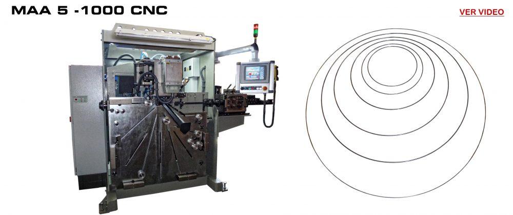 Maquinas Fabricación Aros Soldados: MAA 5 - 1000 CNC Video
