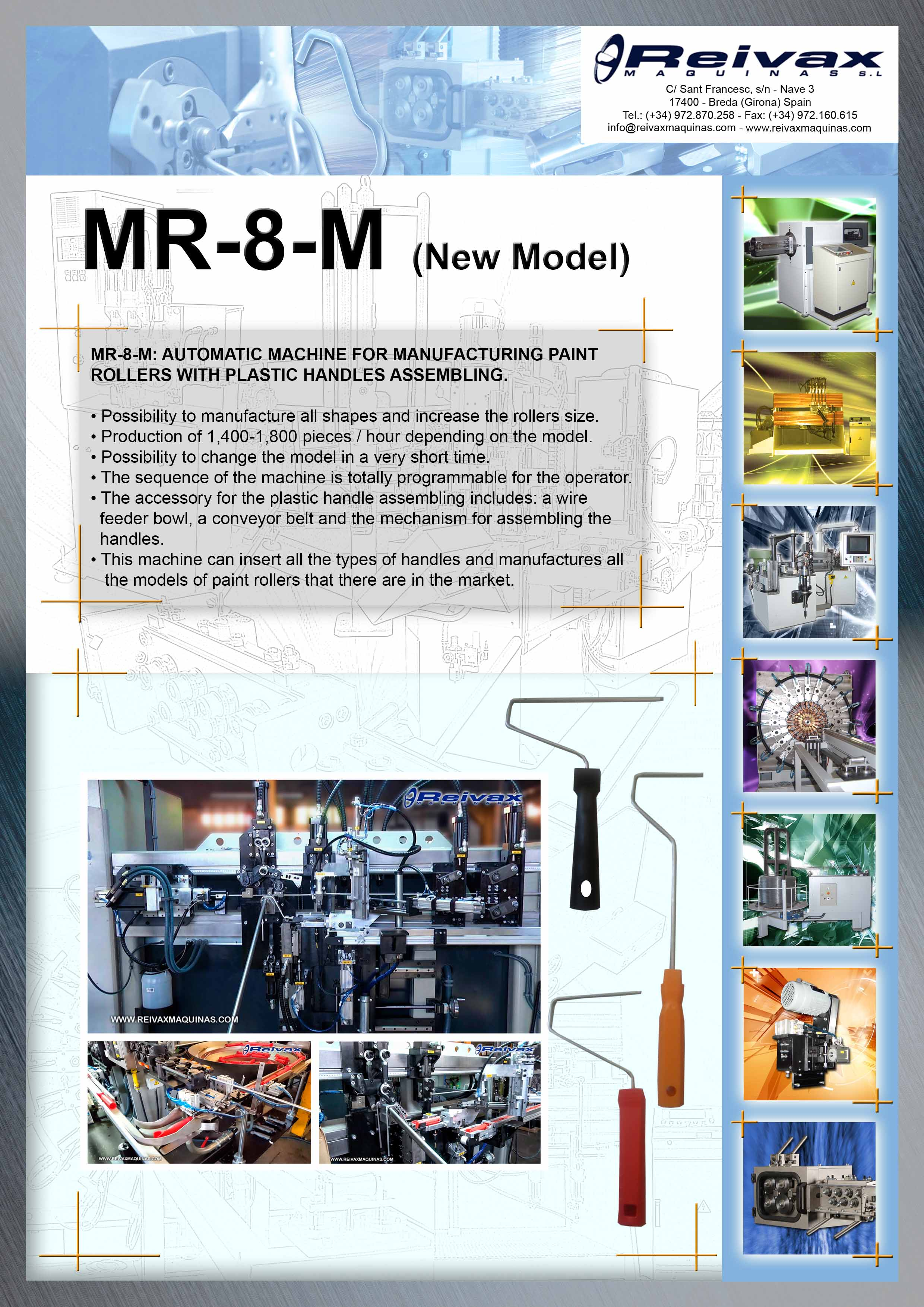 ReivaxMaquinas: Technical Details MR-8-M (New Model 2017)