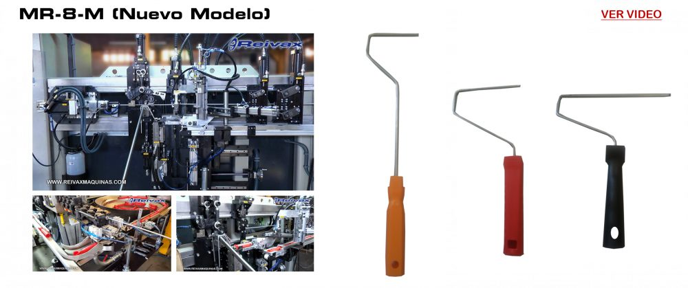 Maquina Rodillos de Pintar: MR-8-M Video