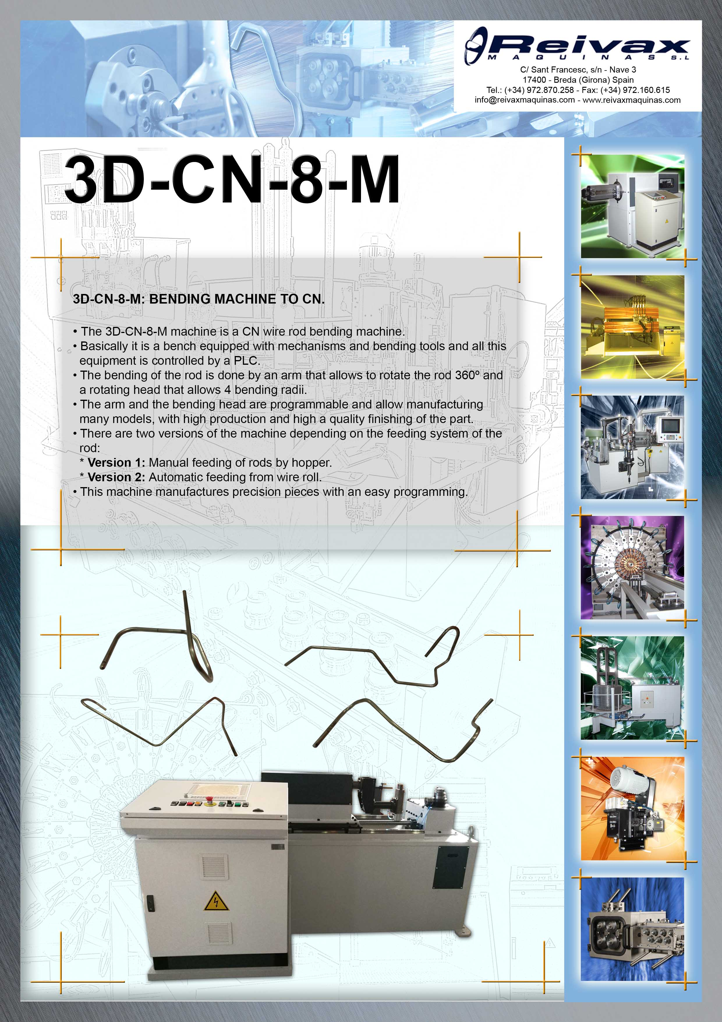ReivaxMaquinas: Technical Details 3D-CN-8-M