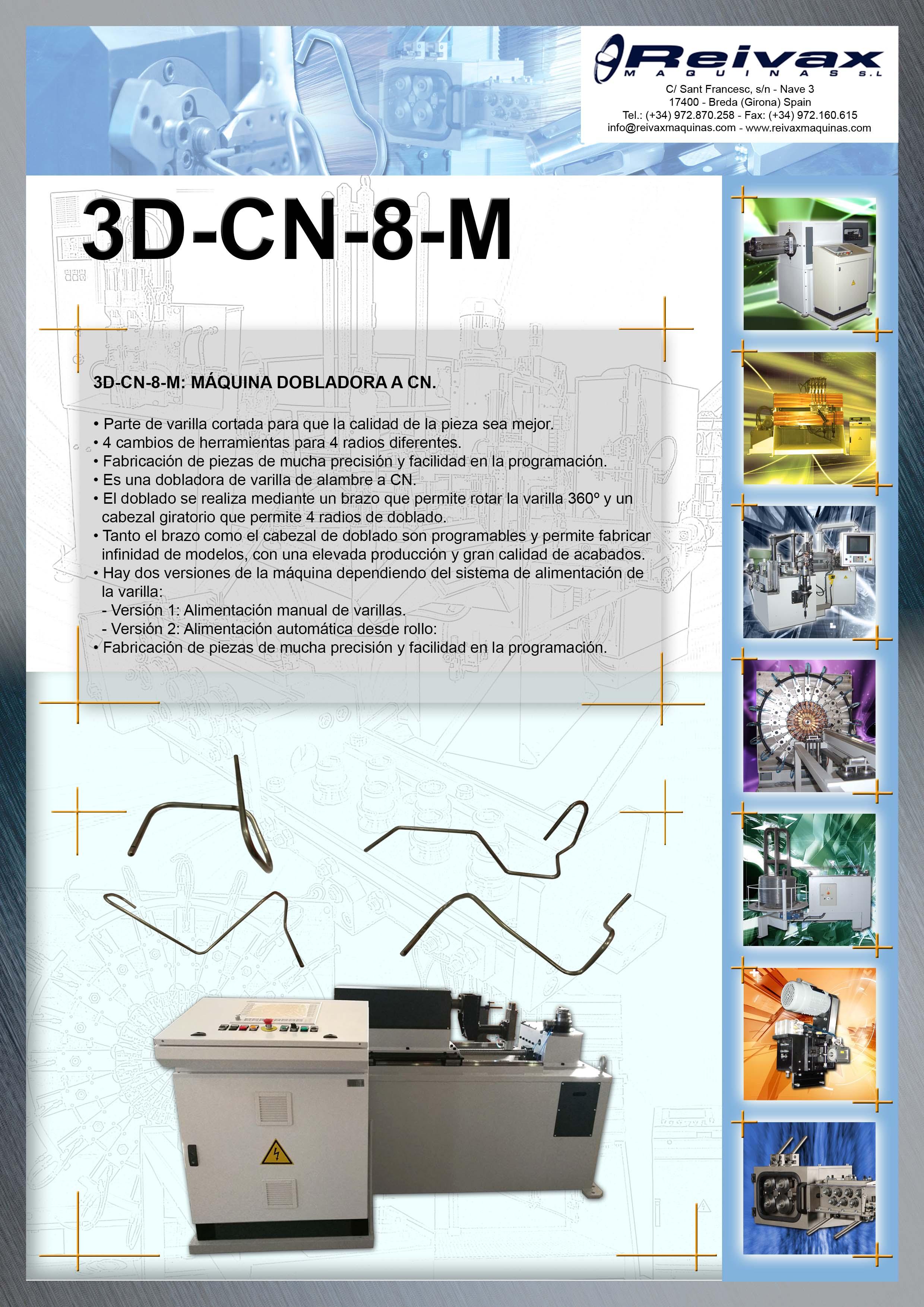 ReivaxMaquinas: Ficha tecnica 3D-CN-8-M