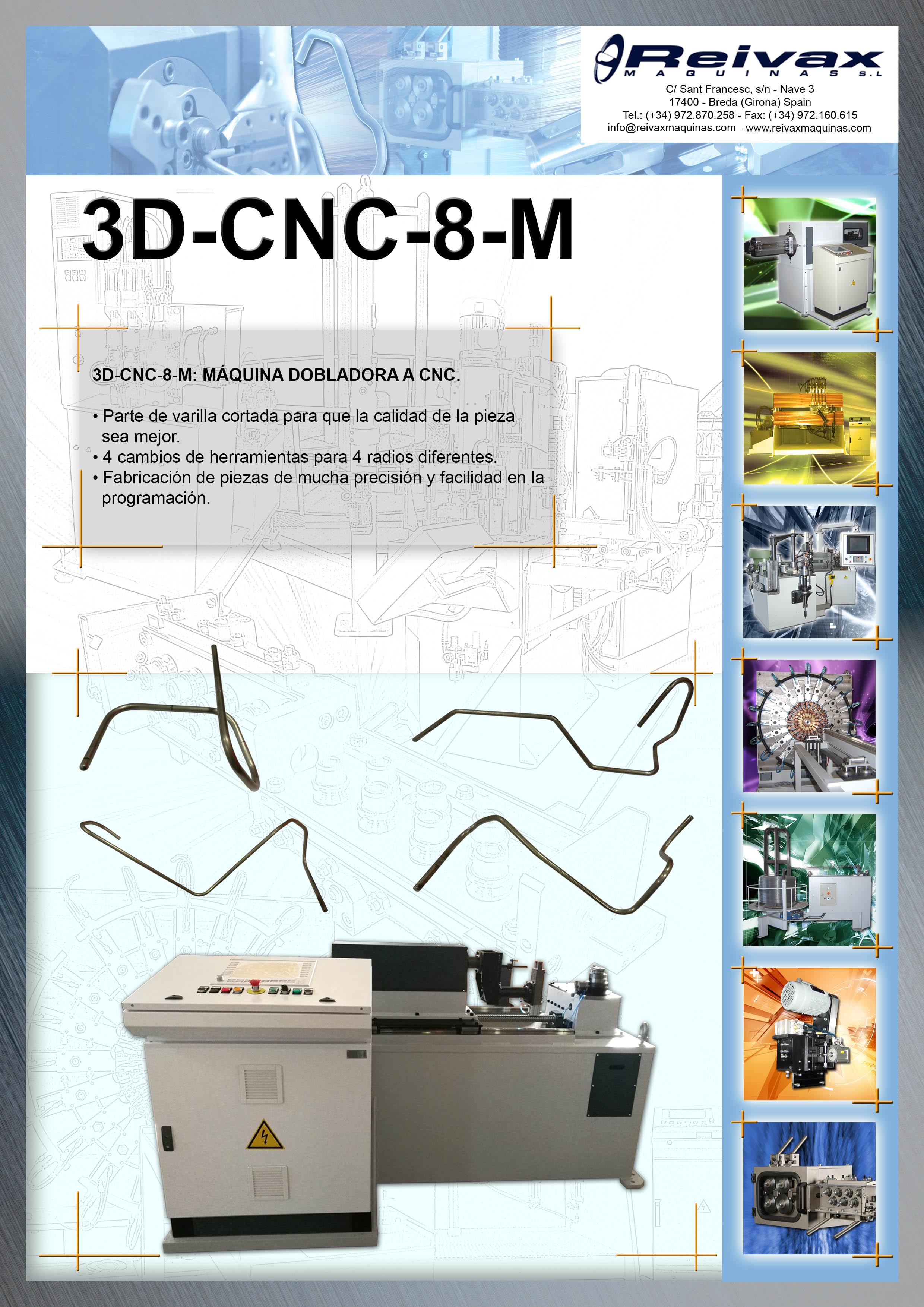 ReivaxMaquinas: Ficha tecnica 3D-CNC-8-M