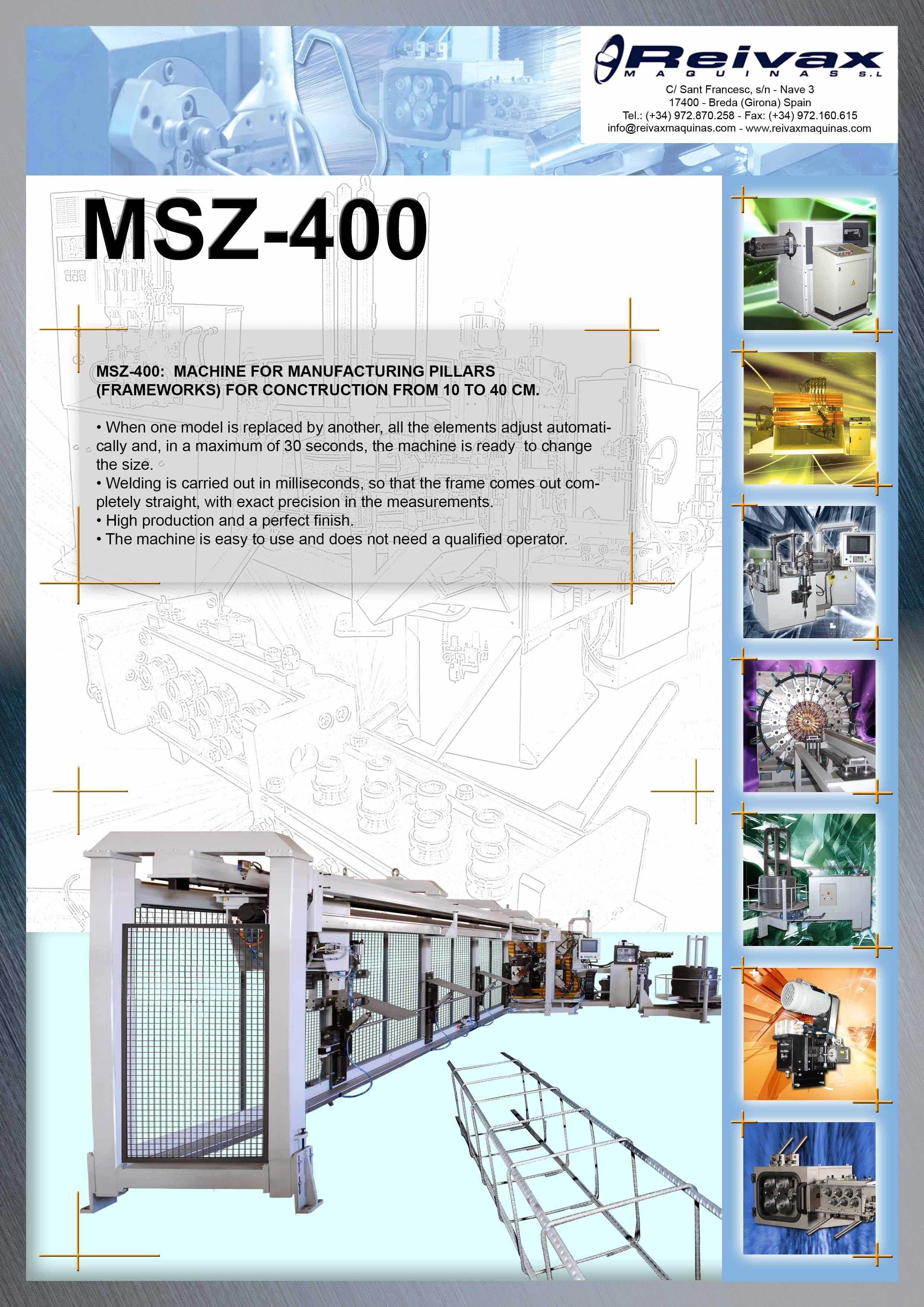 ReivaxMaquinas: Technical Details MSZ-400