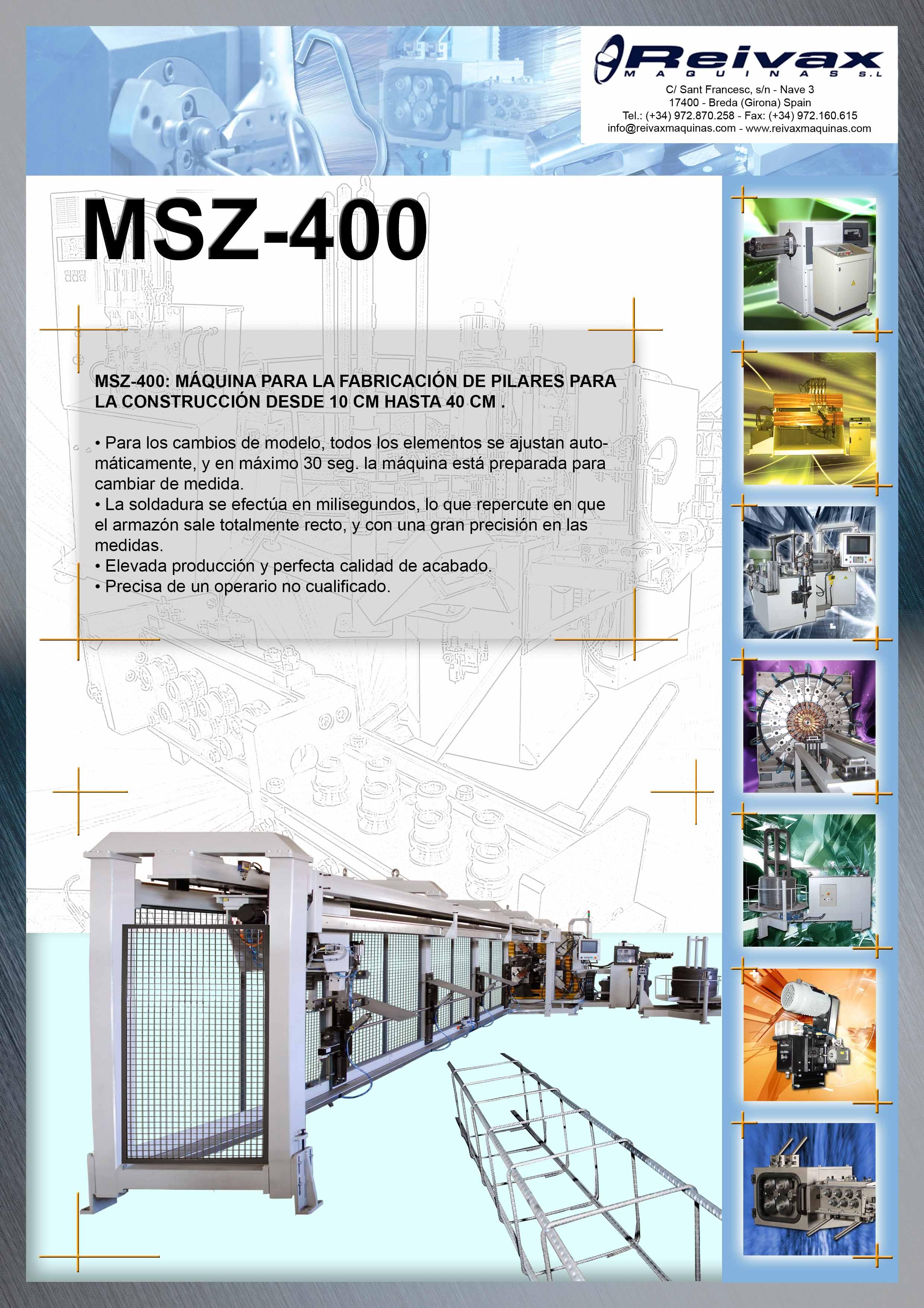 ReivaxMaquinas: Ficha Tecnica DH-1000