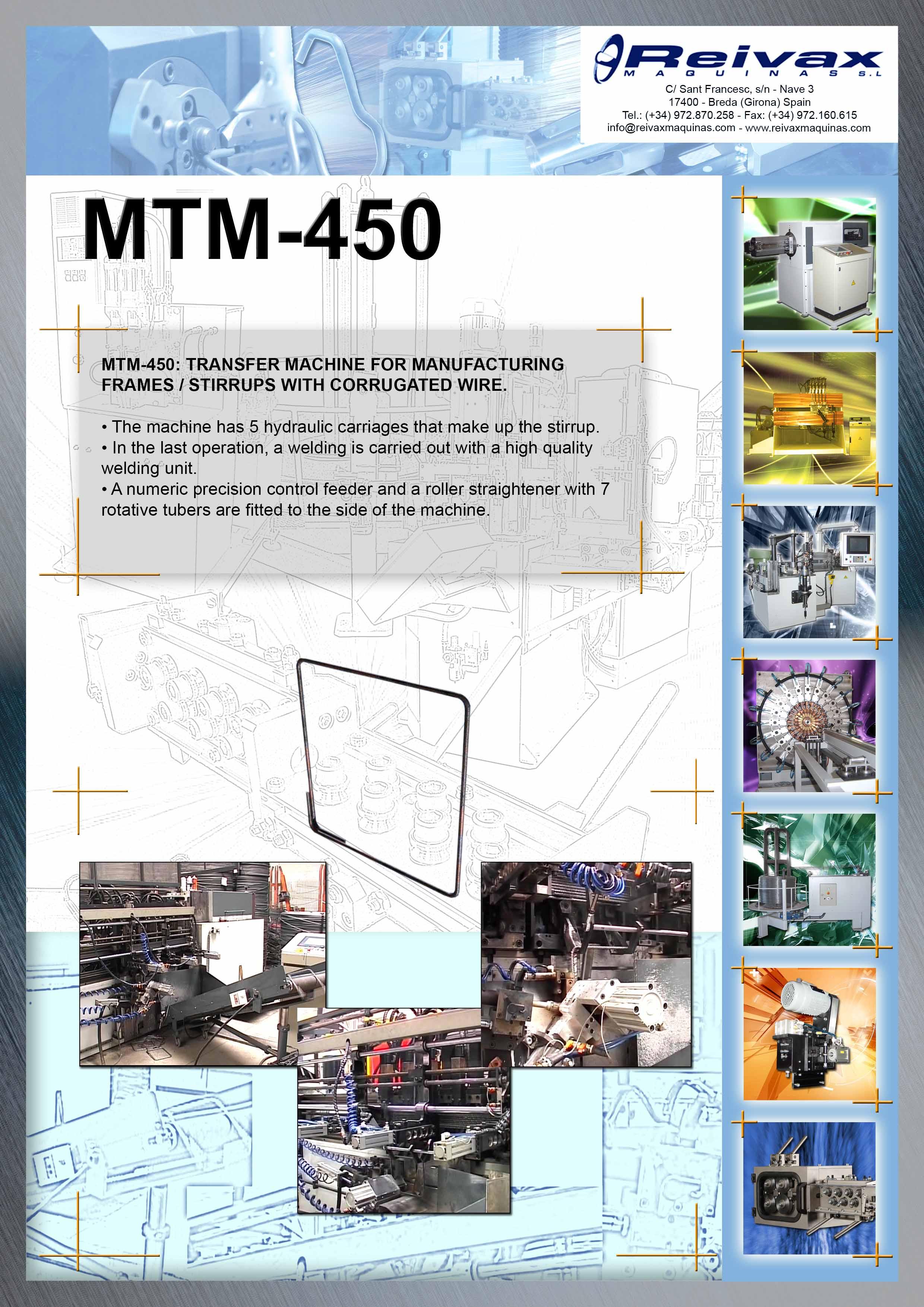 ReivaxMaquinas: Technical Details MTM-450