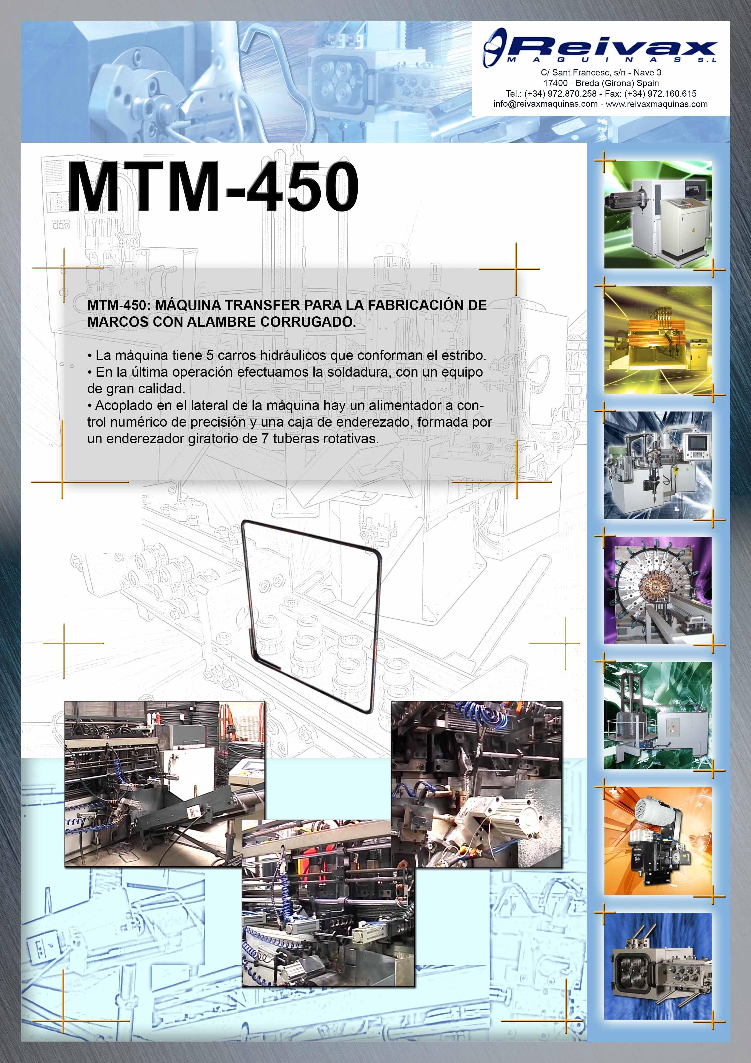 ReivaxMaquinas: Ficha Tecnica MTM-450
