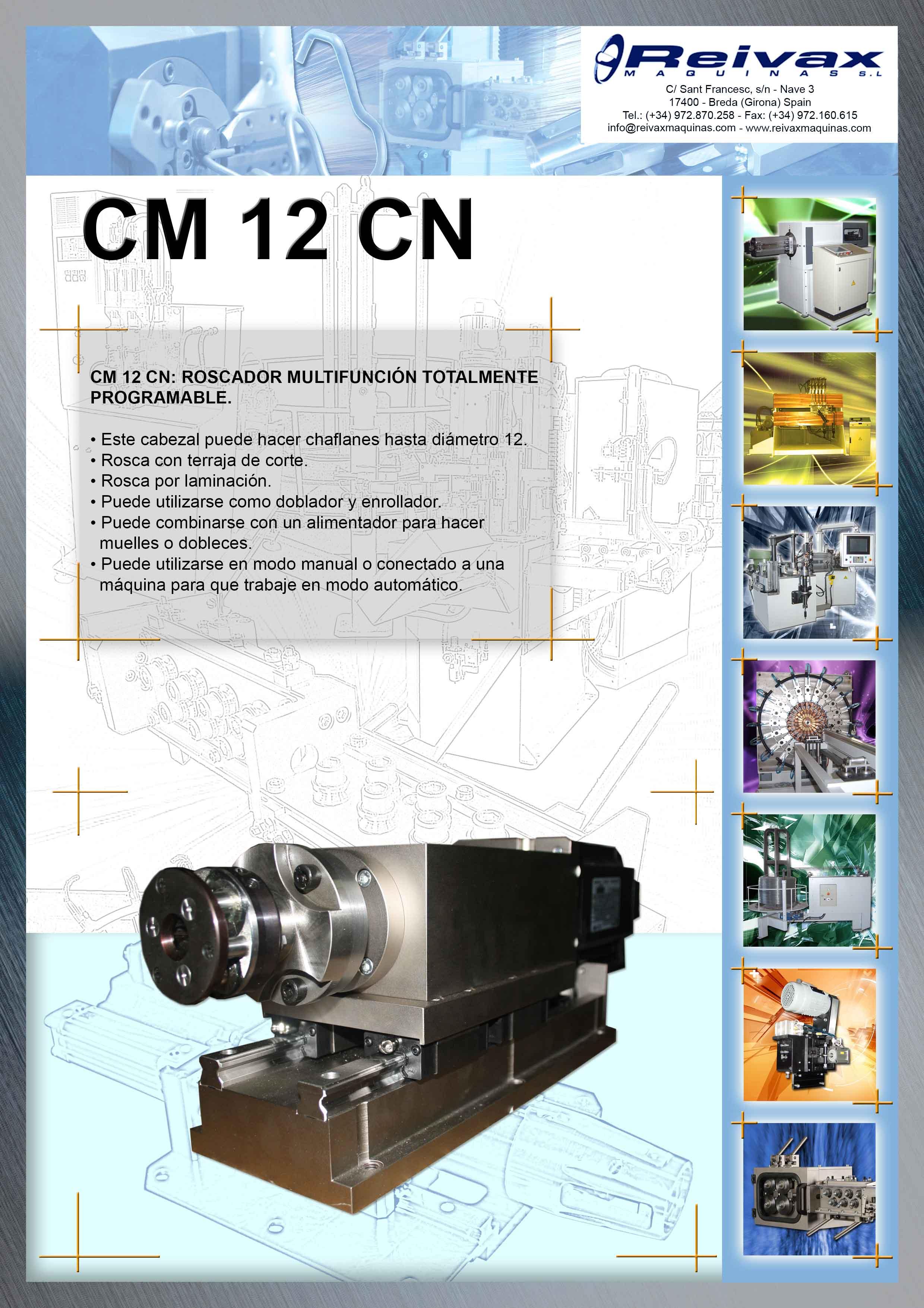 ReivaxMaquinas: Ficha Tecnica CM 12 CN