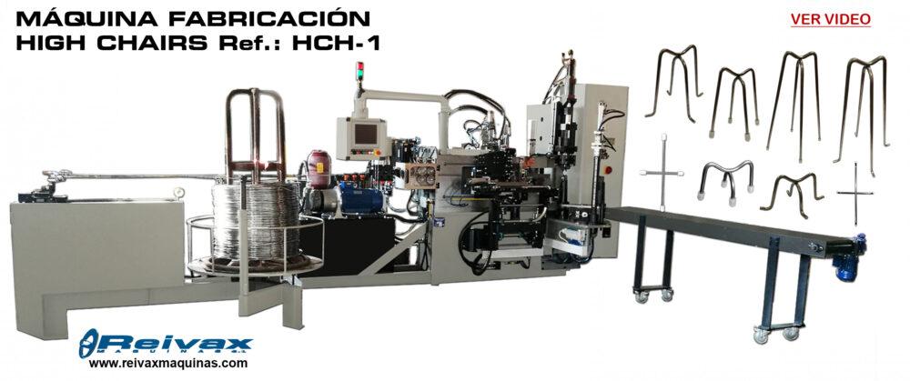 Reivax Maquinas, SL: Video máquina para la fabricación de HIGH CHAIRS - Ref.: HCH-1