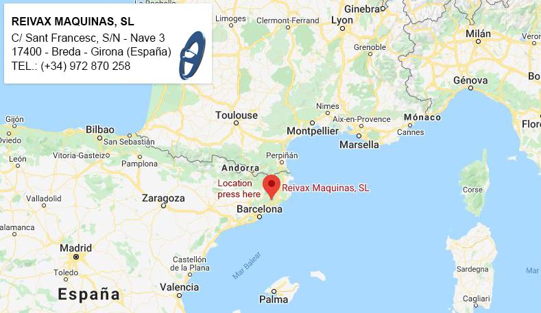 Reivax Maquinas, SL - FACTORY LOCATION IN SPAIN